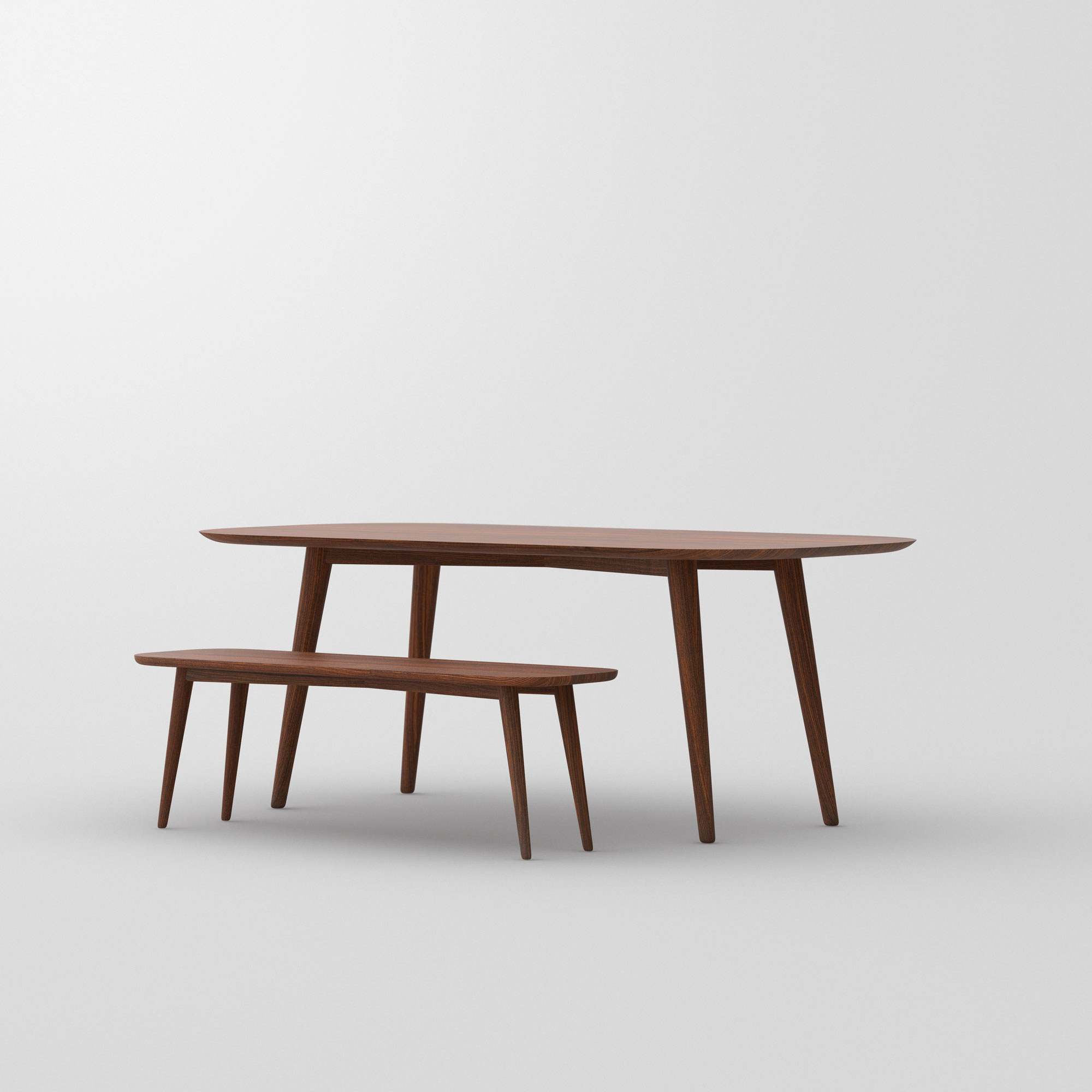 Oval Dining Table AMBIO vitamin-design custom made in solid wood by vitamin design