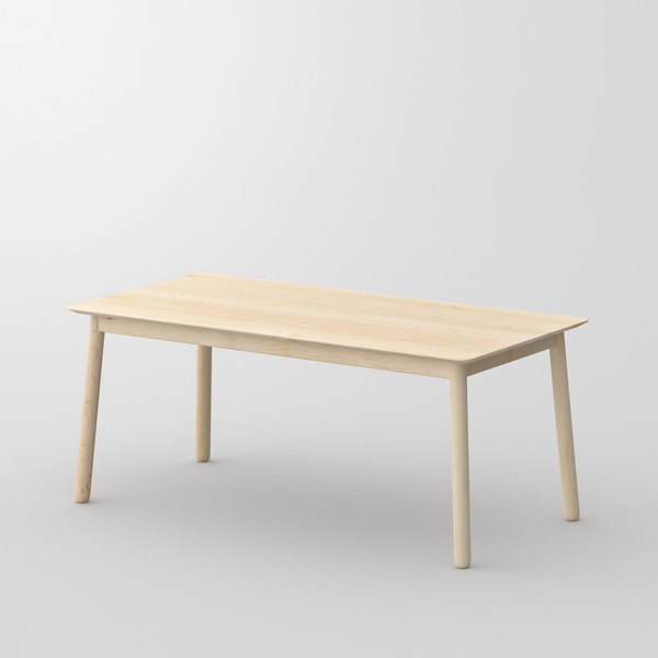 Style Wood Table LOCA cam1 custom made in solid wood by vitamin design