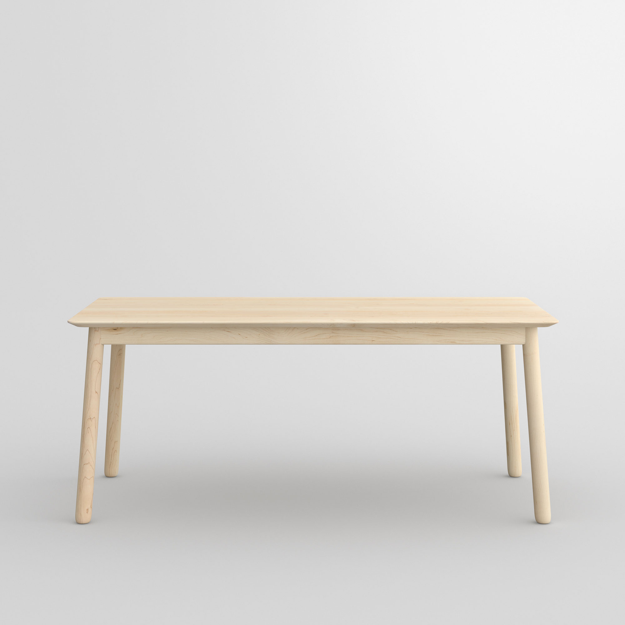 Style Wood Table LOCA cam2 custom made in solid wood by vitamin design
