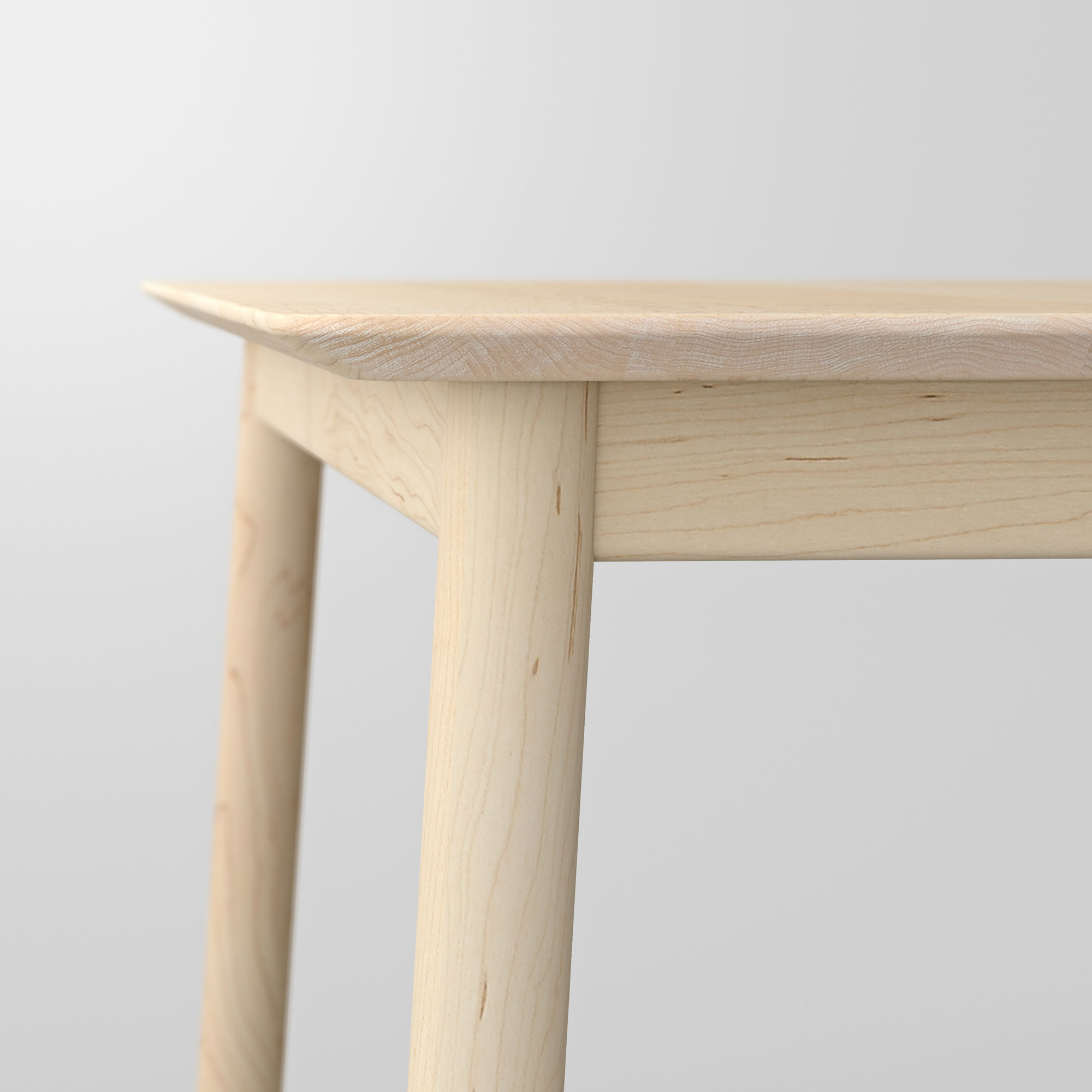 Style Wood Table LOCA cam4 custom made in solid wood by vitamin design