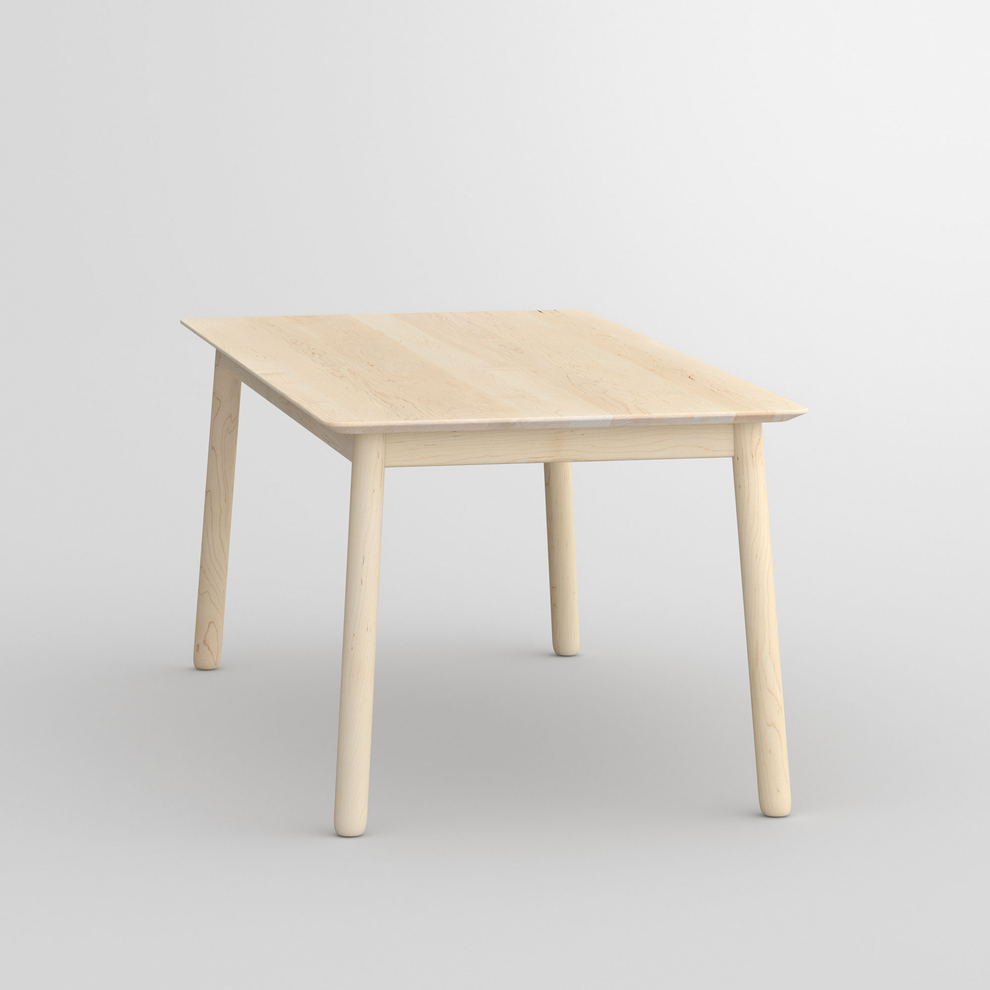 Style Wood Table LOCA cam3 custom made in solid wood by vitamin design
