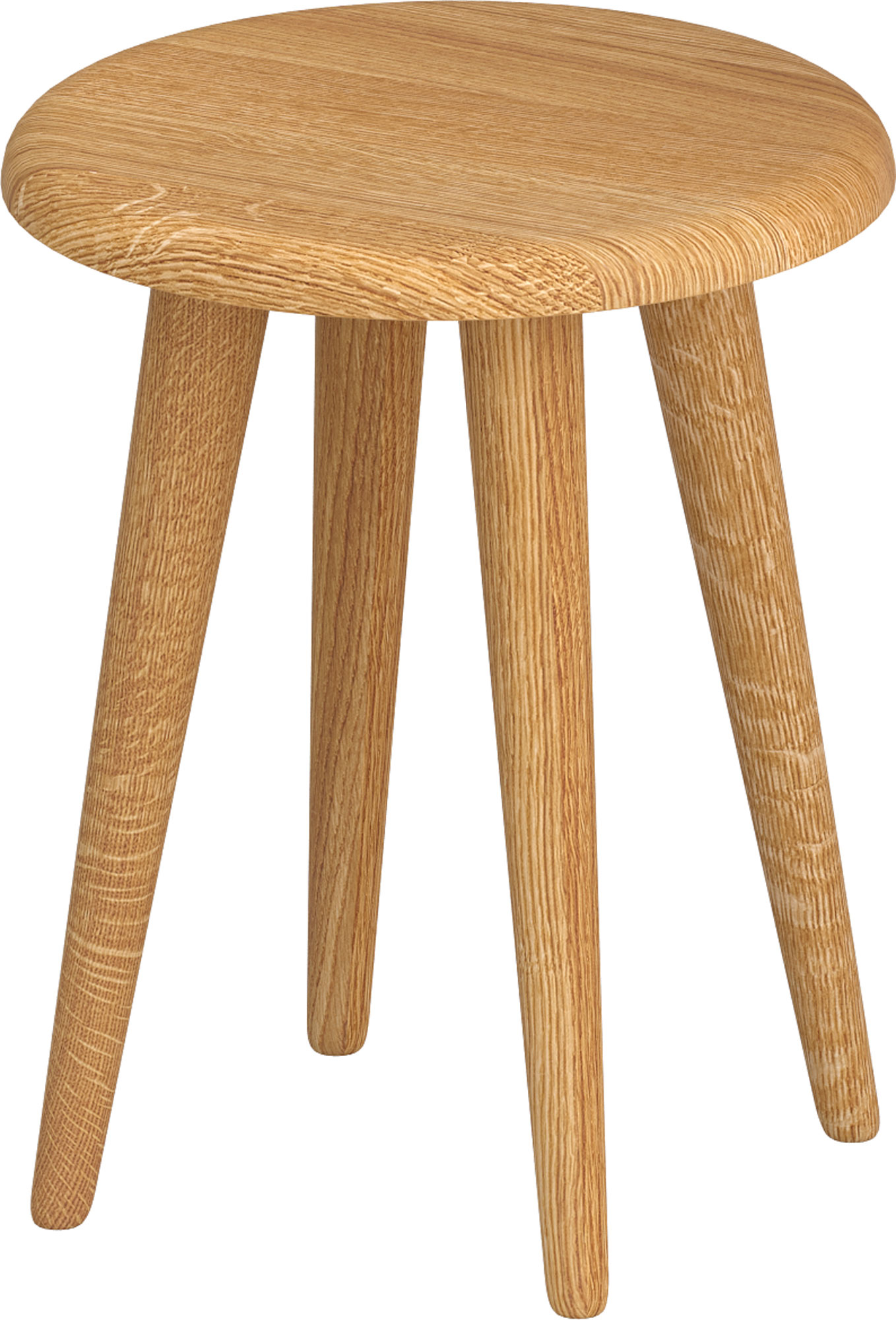 Round Wood Stool AMBIO ROUND  custom made in solid wood by vitamin design