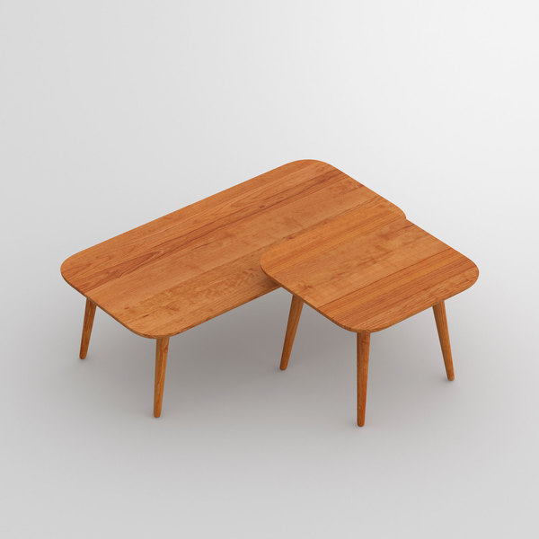 Oval Coffee Table AMBIO vitamin-design custom made in solid wood by vitamin design