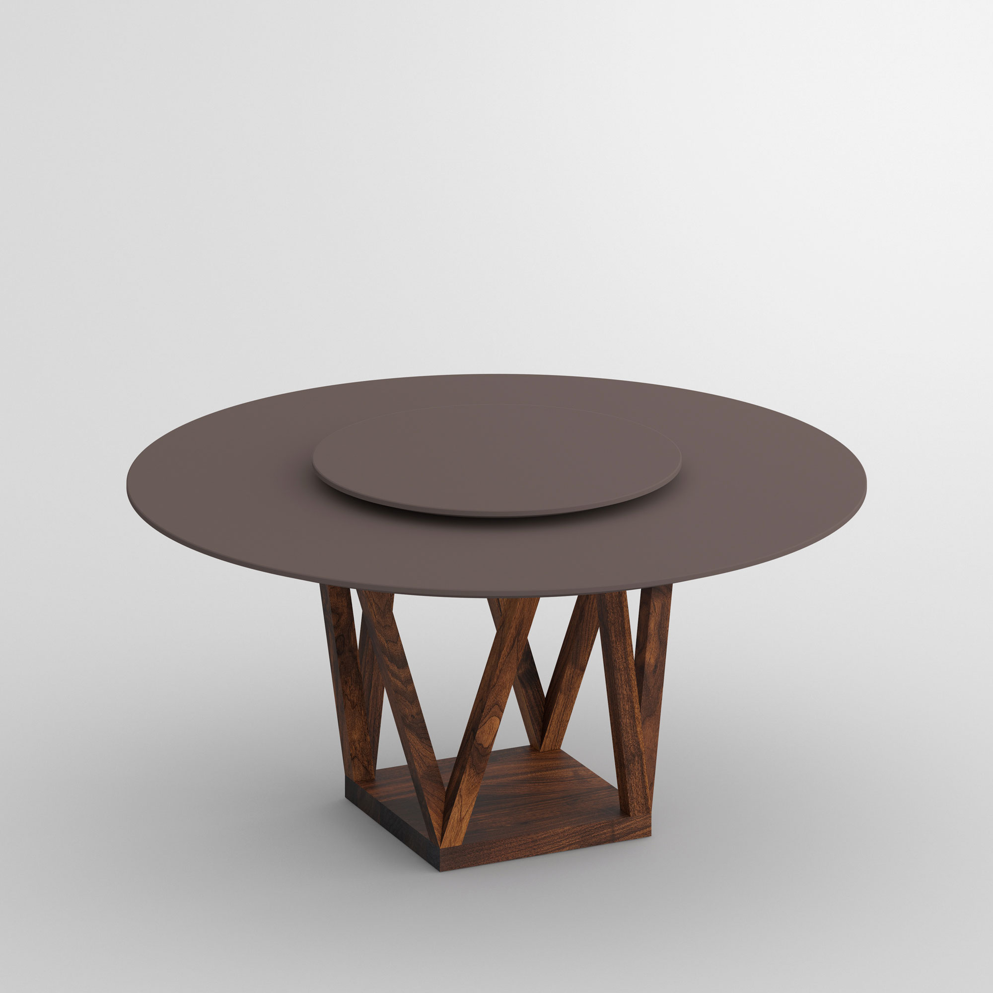Linoleum Design Table CREO LINO cam1 custom made in solid wood by vitamin design