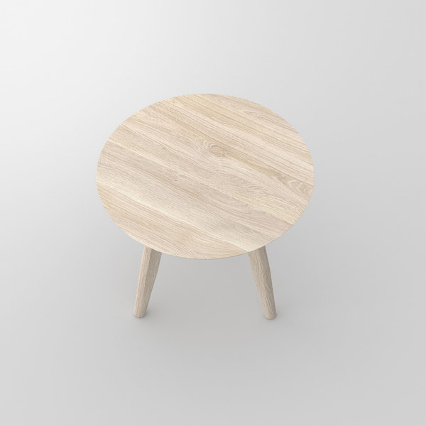 Wooden Round Coffee Table AETAS ROUND cam2 custom made in solid wood by vitamin design