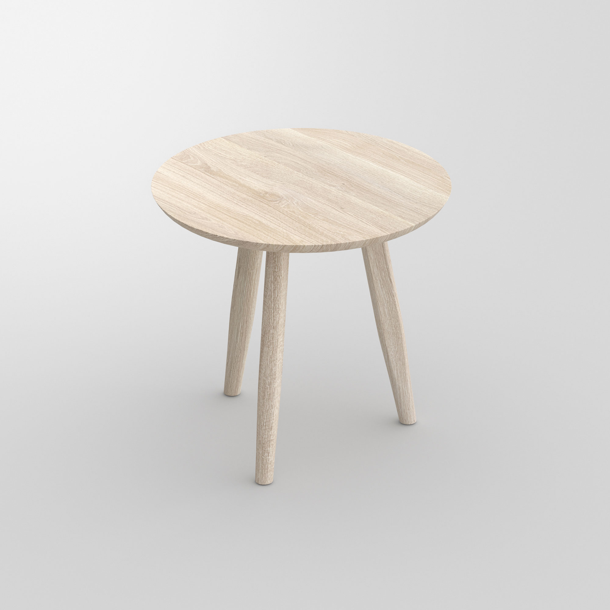 Round Night Table AETAS ROUND cam1 custom made in solid wood by vitamin design