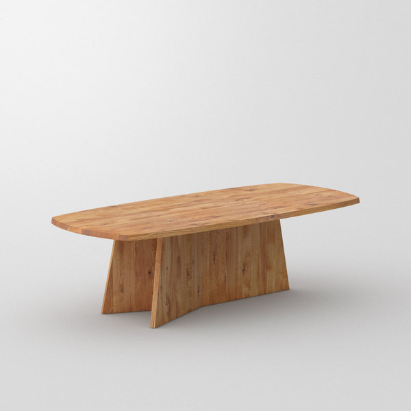 Design Dining Table LOTUS cam1 custom made in Solid knotty oak, oiled by vitamin design