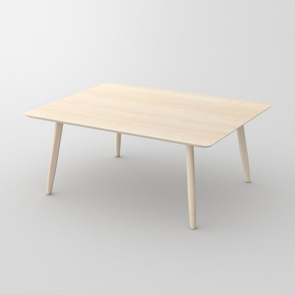 Designer Solid Wood Table AETAS cam1 custom made in Solid American maple, chalked by vitamin design