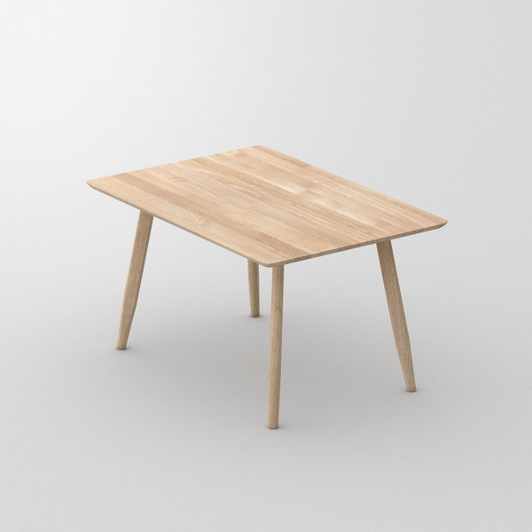 Designer Dining Table Wood AETAS BASIC 3 cam1 custom made in Solid oak, chalked by vitamin design