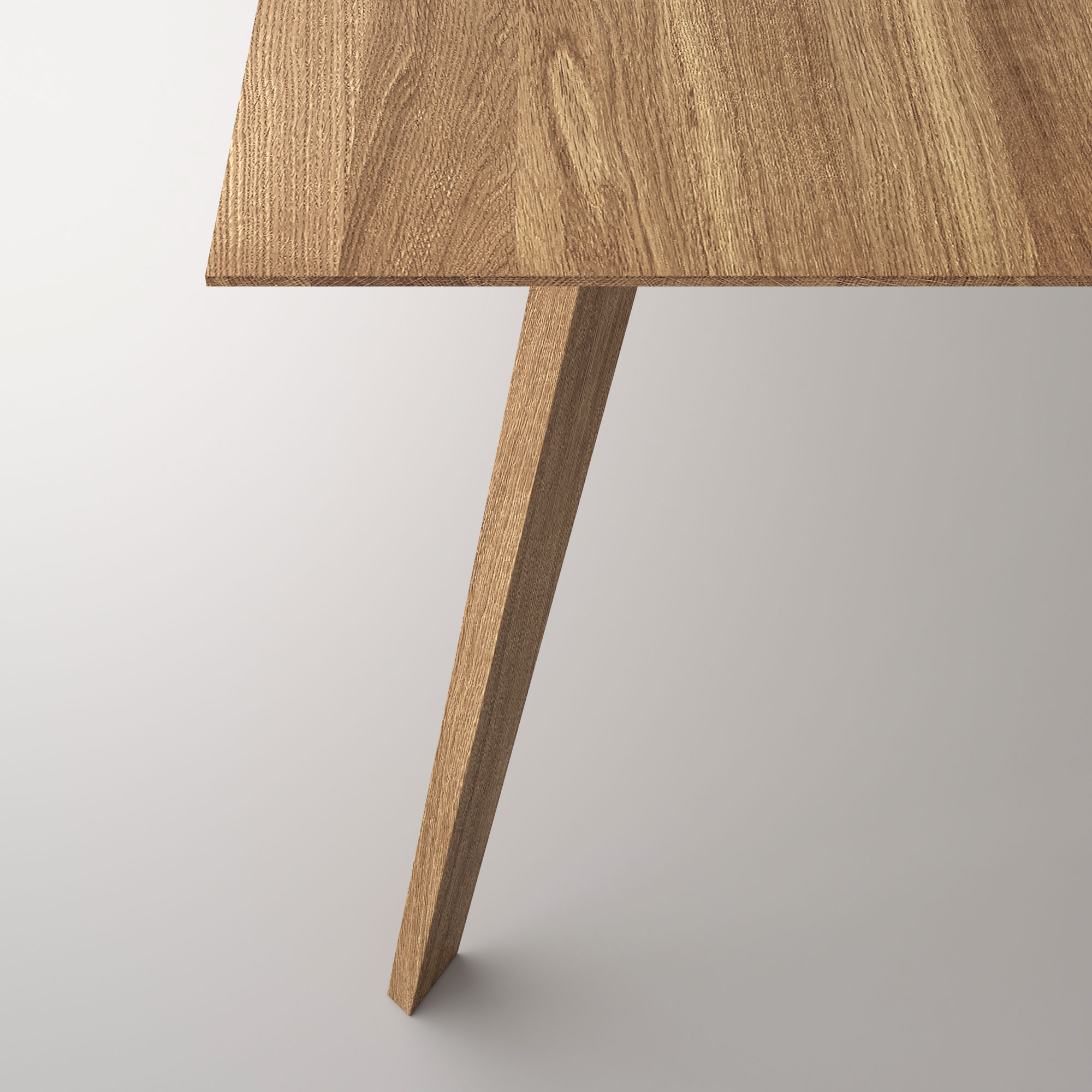 Solid Wood Dining Table CITIUS Cam4 custom made in solid wood by vitamin design