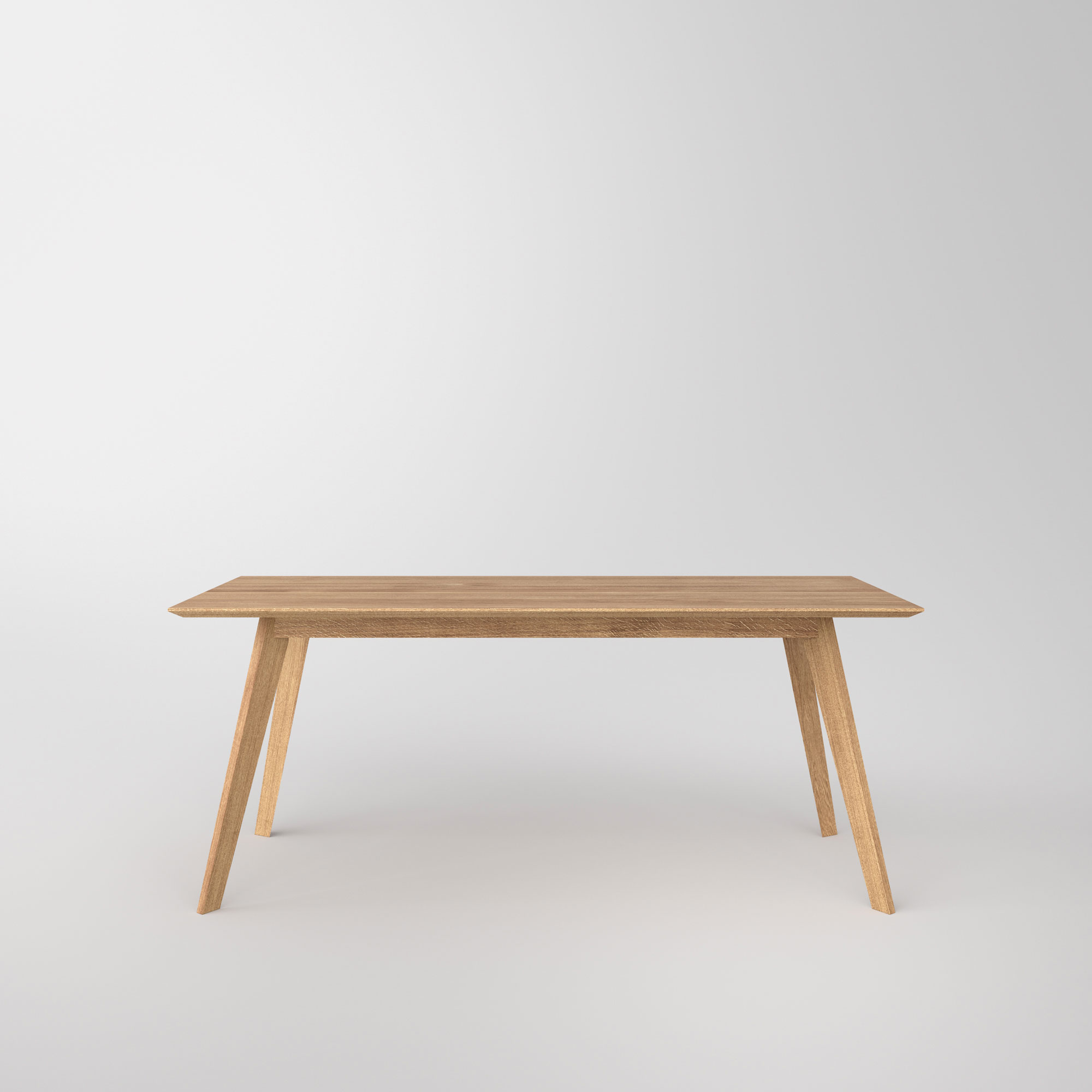 Solid Wood Dining Table CITIUS Cam3 custom made in solid wood by vitamin design