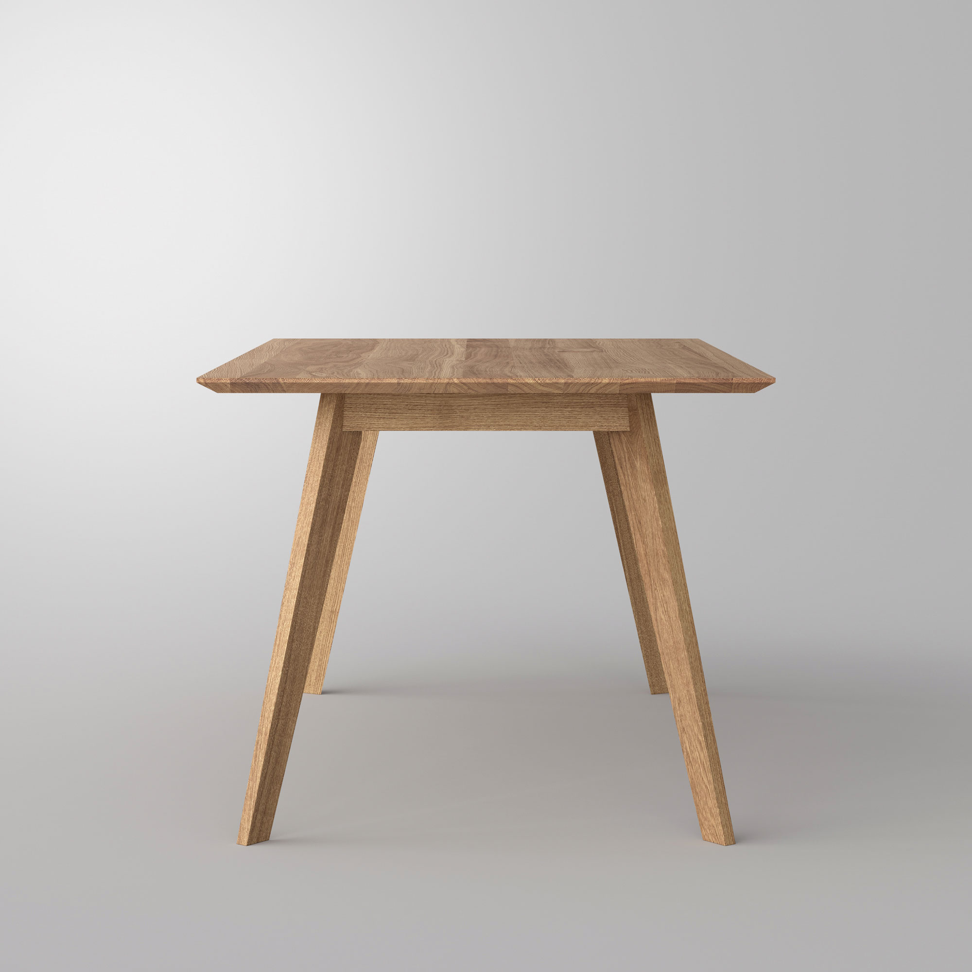 Solid Wood Dining Table CITIUS Cam6 custom made in solid wood by vitamin design