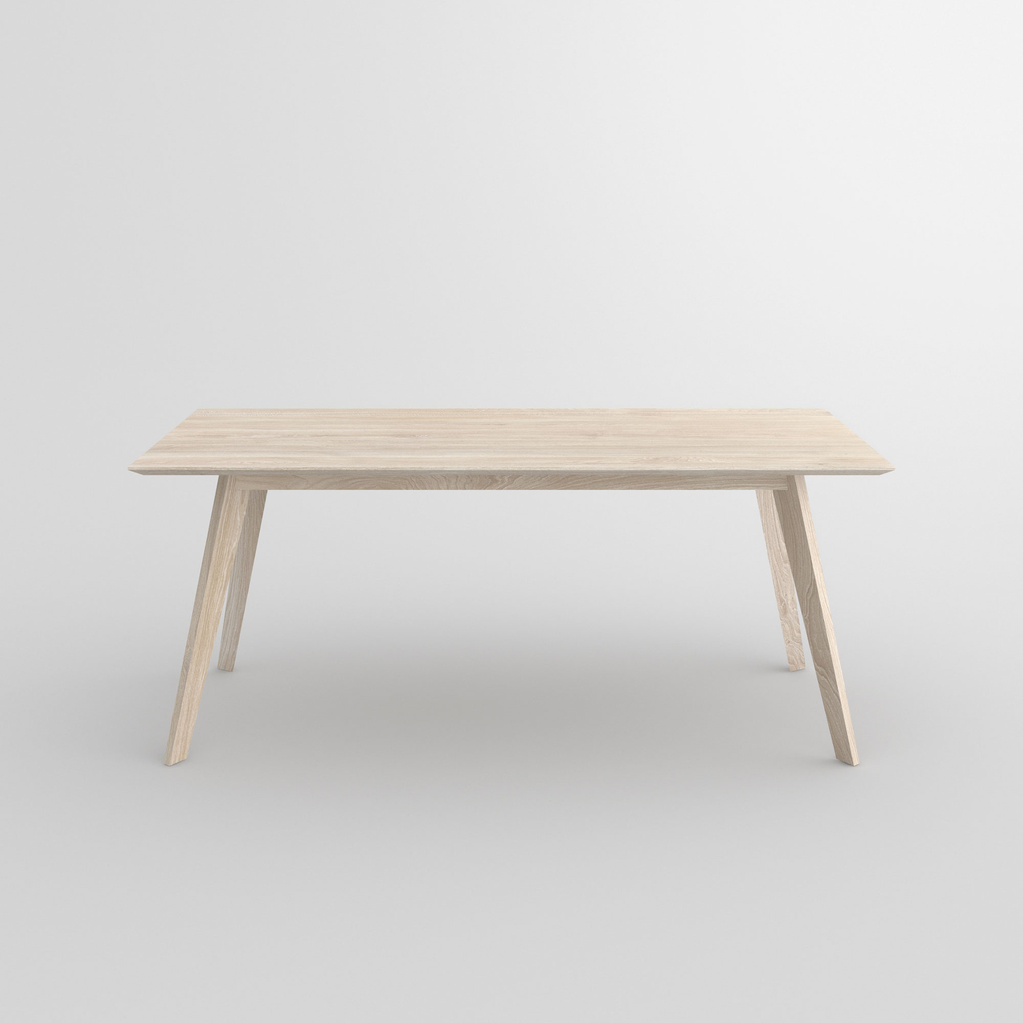 Solid Wood Dining Table CITIUS cam2 custom made in solid wood by vitamin design