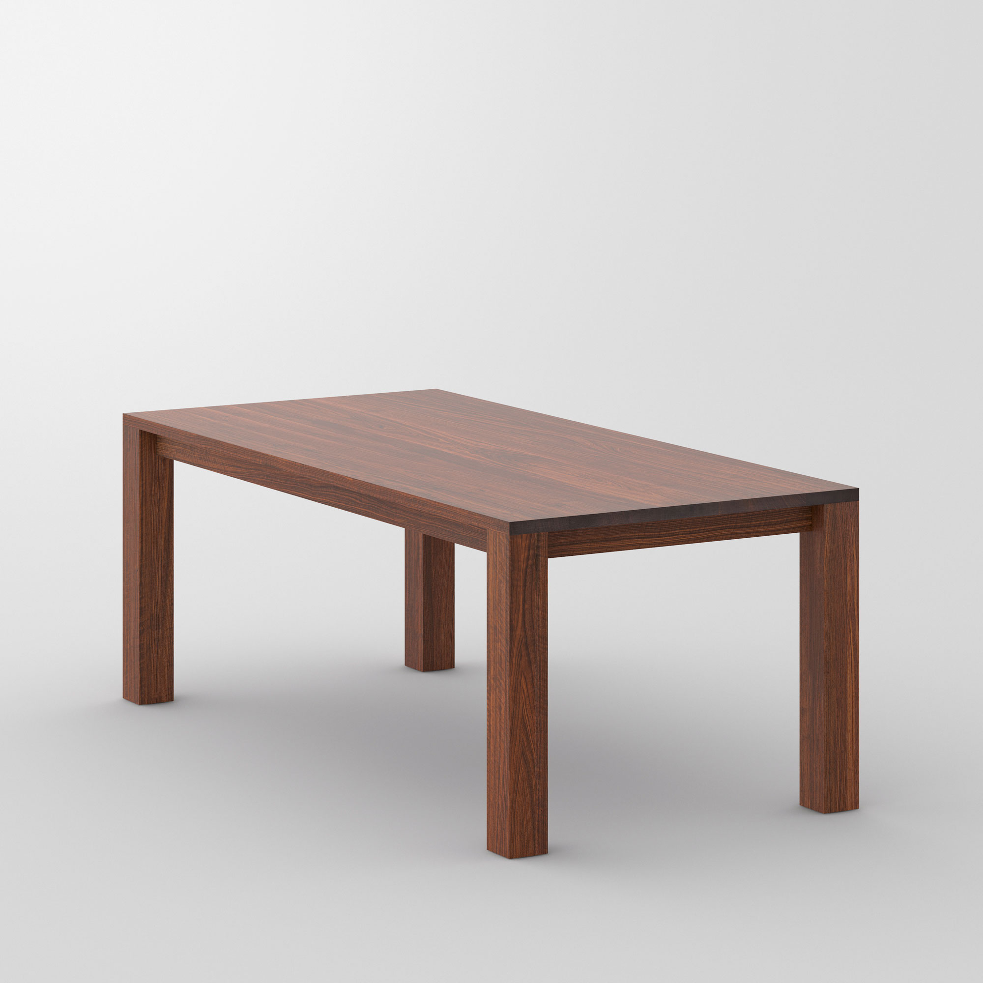 Dining Table Rustic CUBUS 3 B10X10 cam3 custom made in solid wood by vitamin design