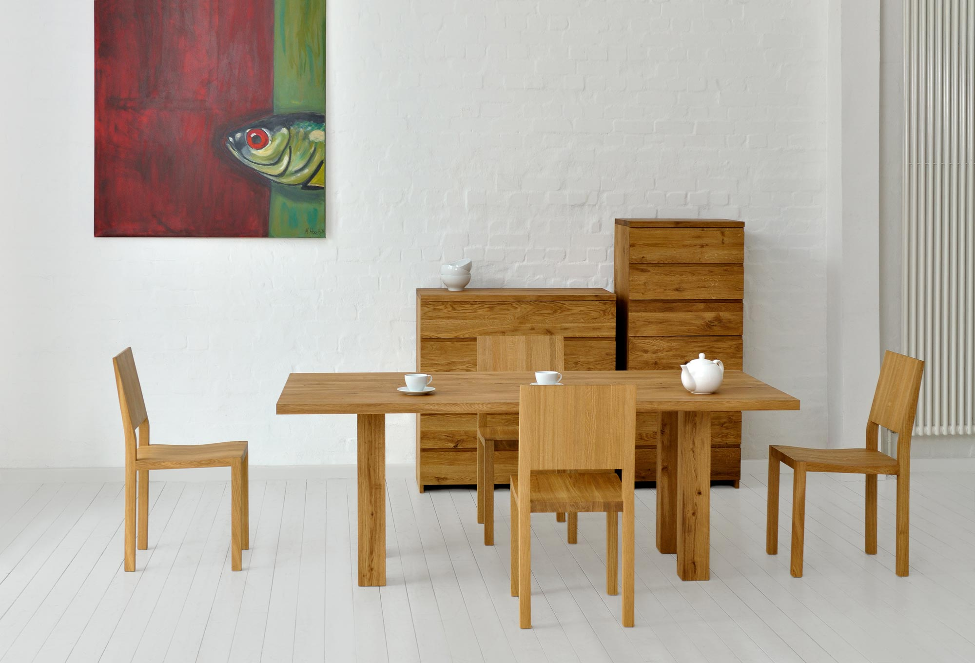 Frameless Table DUCK 2790 custom made in solid wood by vitamin design
