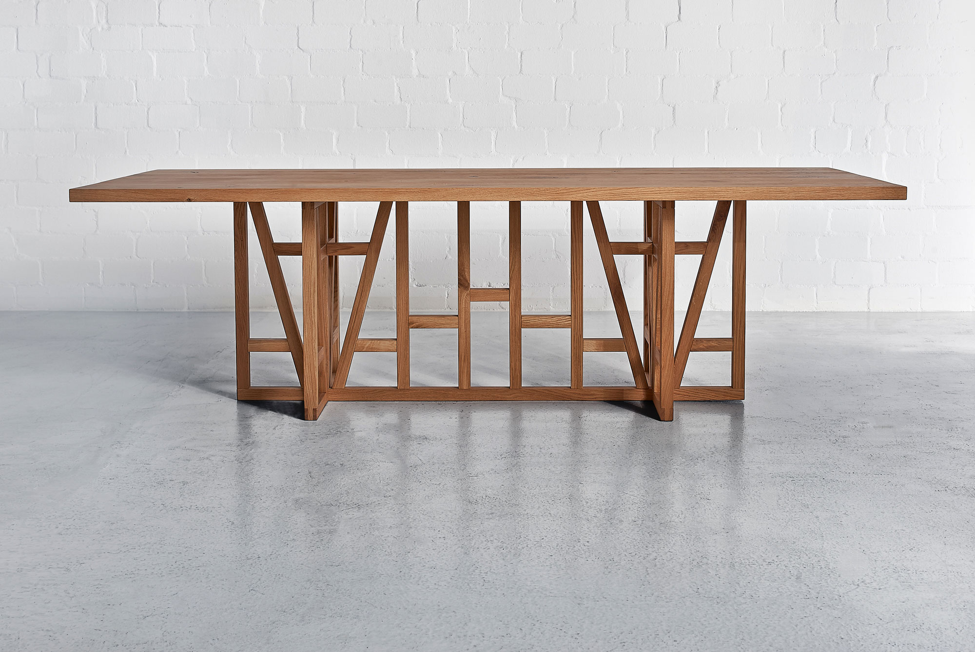 Designer Solid Wood Table FACHWERK 0039g custom made in solid wood by vitamin design