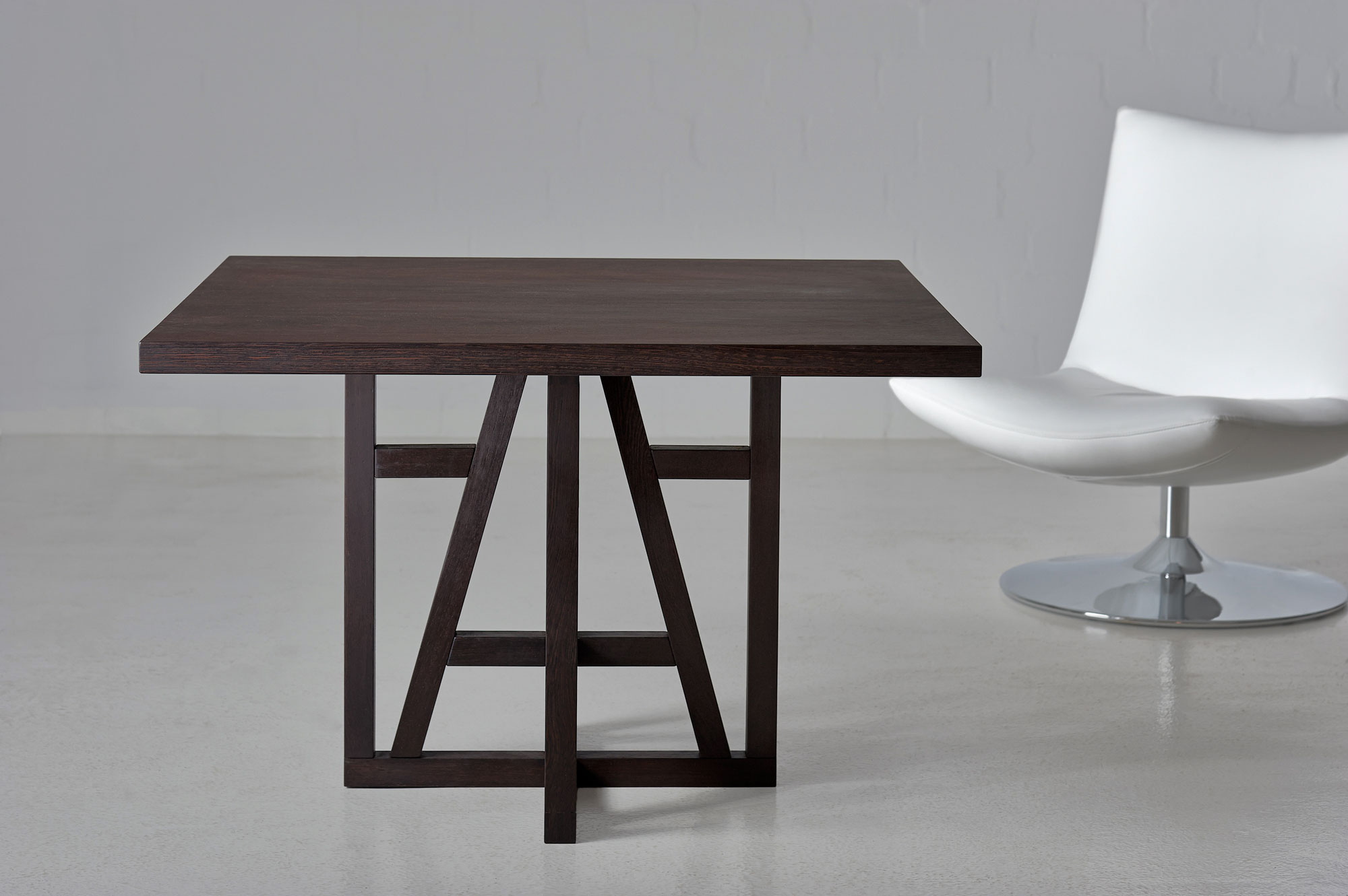 Square Designer Table FACHWERK SQUARE fachwerk0010 custom made in solid wood by vitamin design