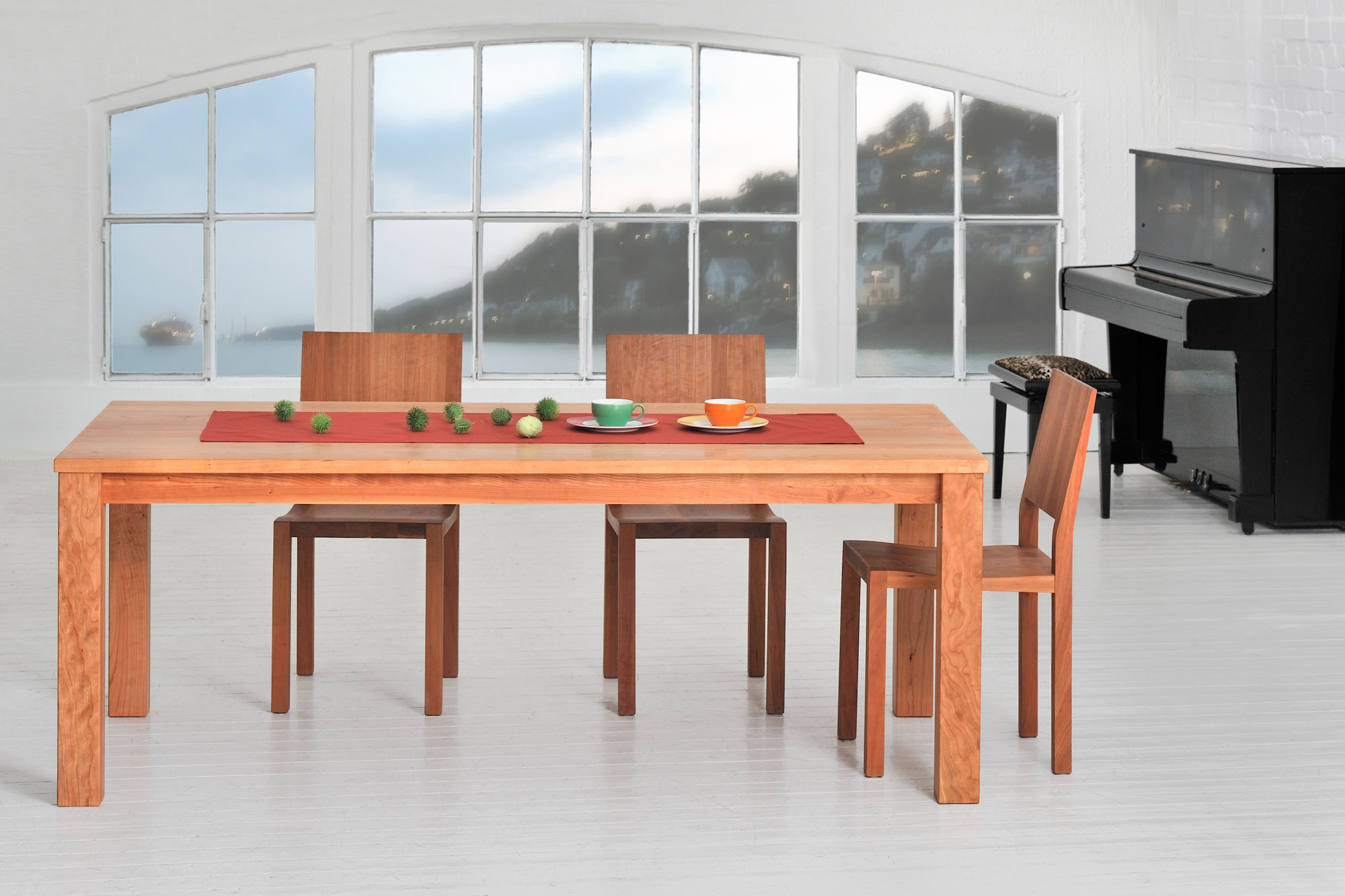 Tailor-Made Wood Table FORTE 3 B9X9 2001 custom made in solid wood by vitamin design