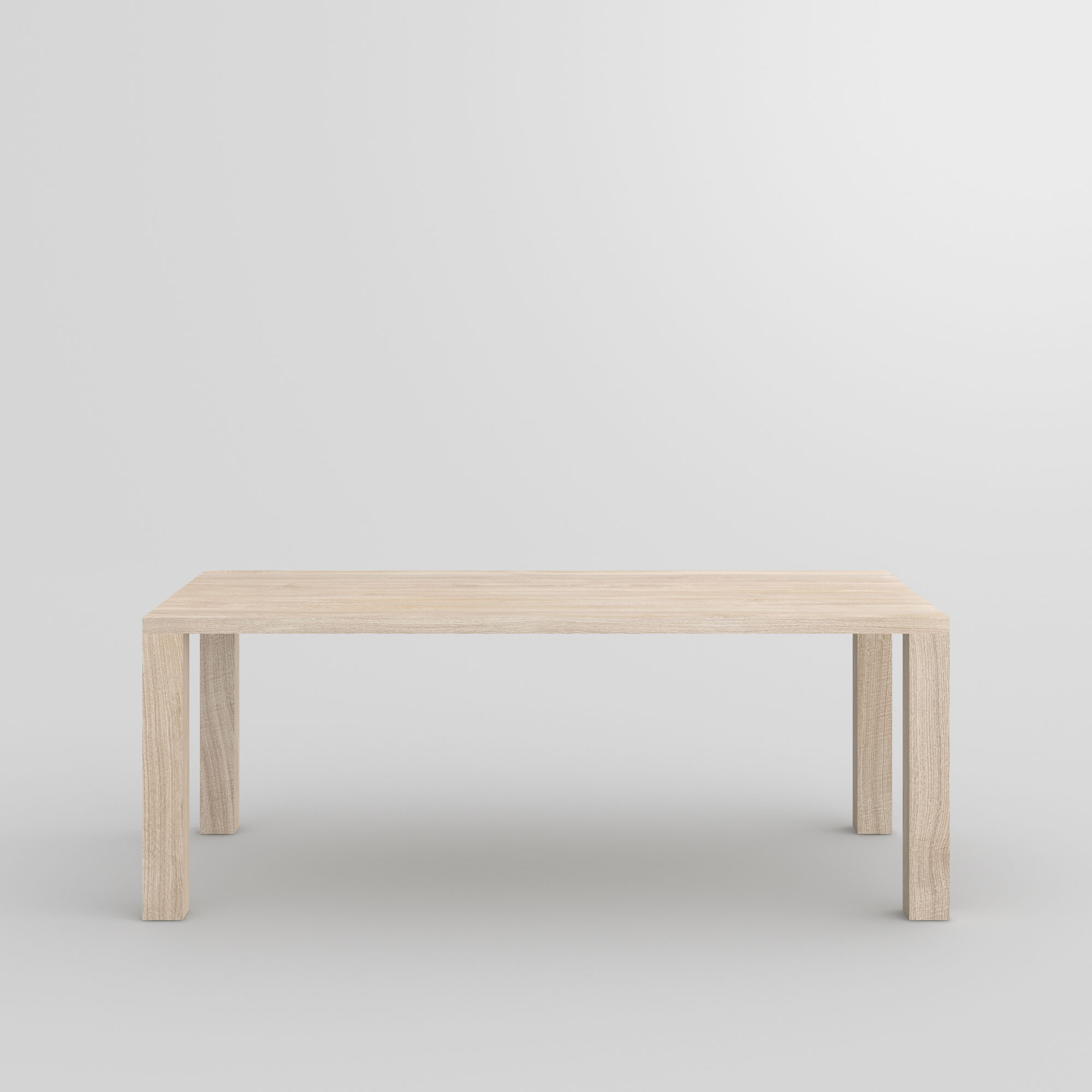 Frameless Solid Wood Table IUSTUS cam2 custom made in solid wood by vitamin design