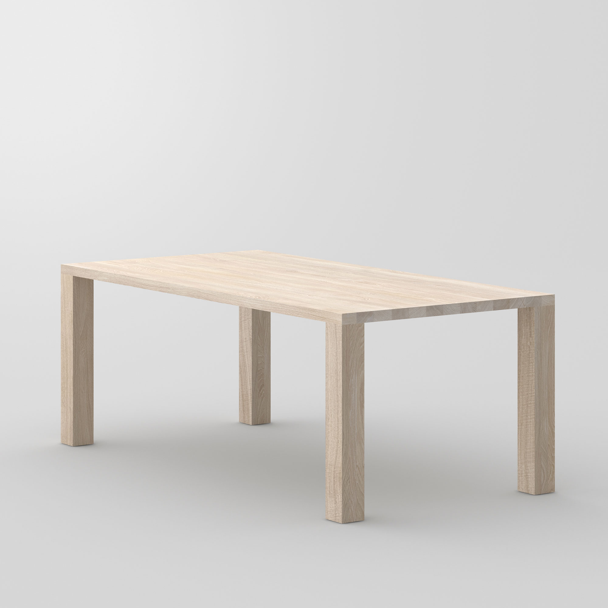 Frameless Solid Wood Table IUSTUS cam3 custom made in solid wood by vitamin design