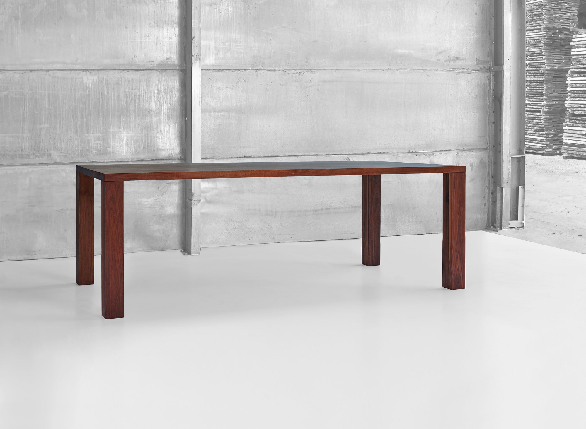Frameless Solid Wood Table IUSTUS 0990pk custom made in solid wood by vitamin design