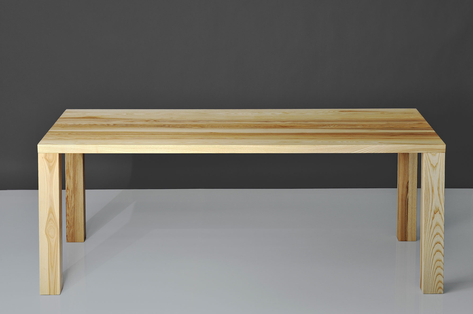 Frameless Solid Wood Table IUSTUS 016 custom made in solid wood by vitamin design