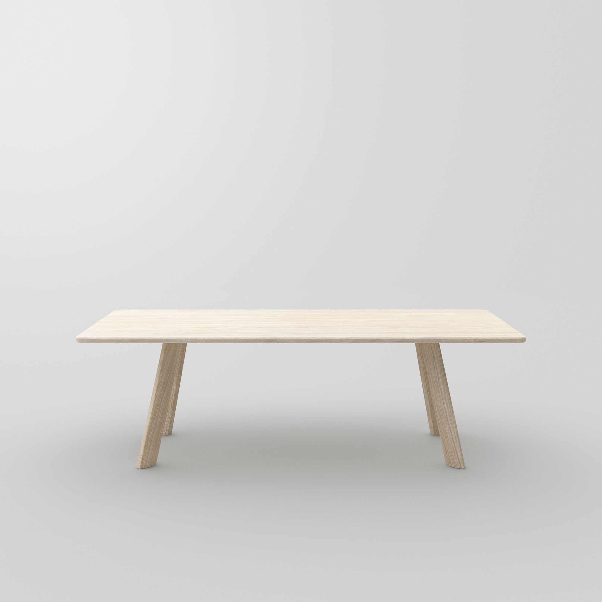 Designer Dining Table LARGUS cam3 custom made in solid wood by vitamin design