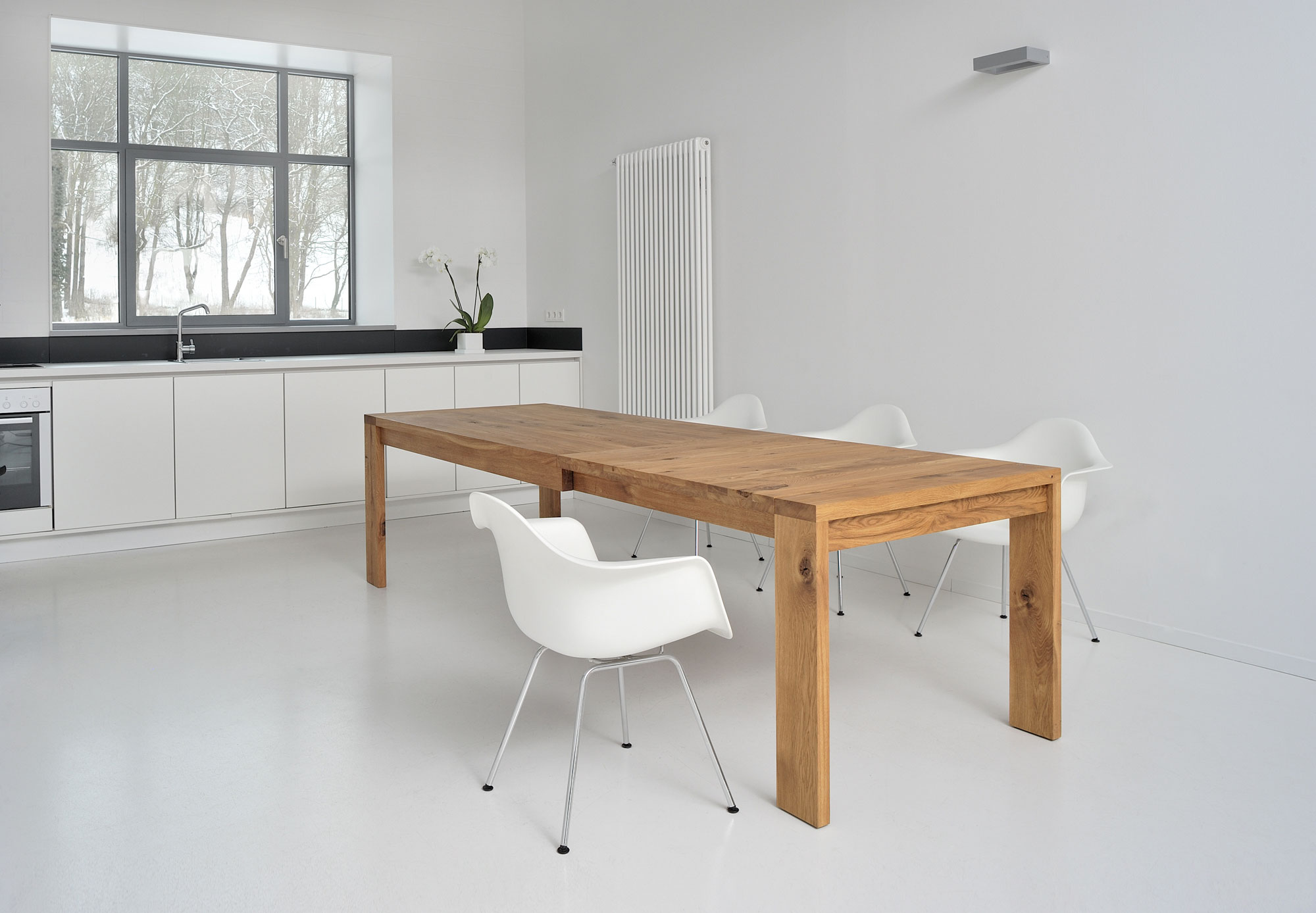 Extendable Table LUNGO 2761 custom made in solid wood by vitamin design