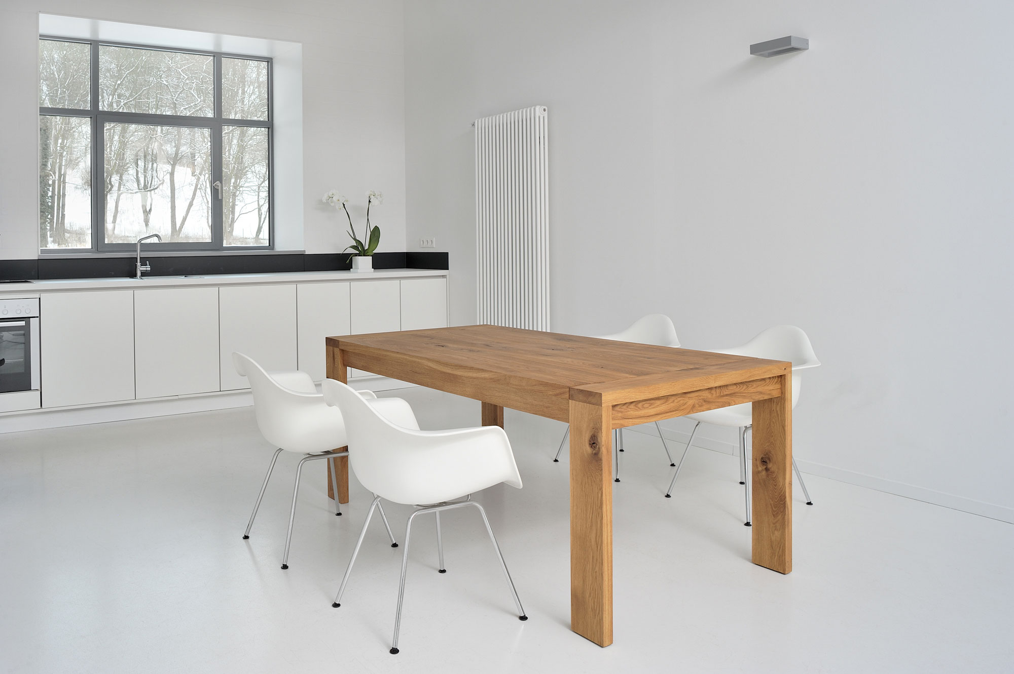 Extendable Table LUNGO 2756 custom made in solid wood by vitamin design