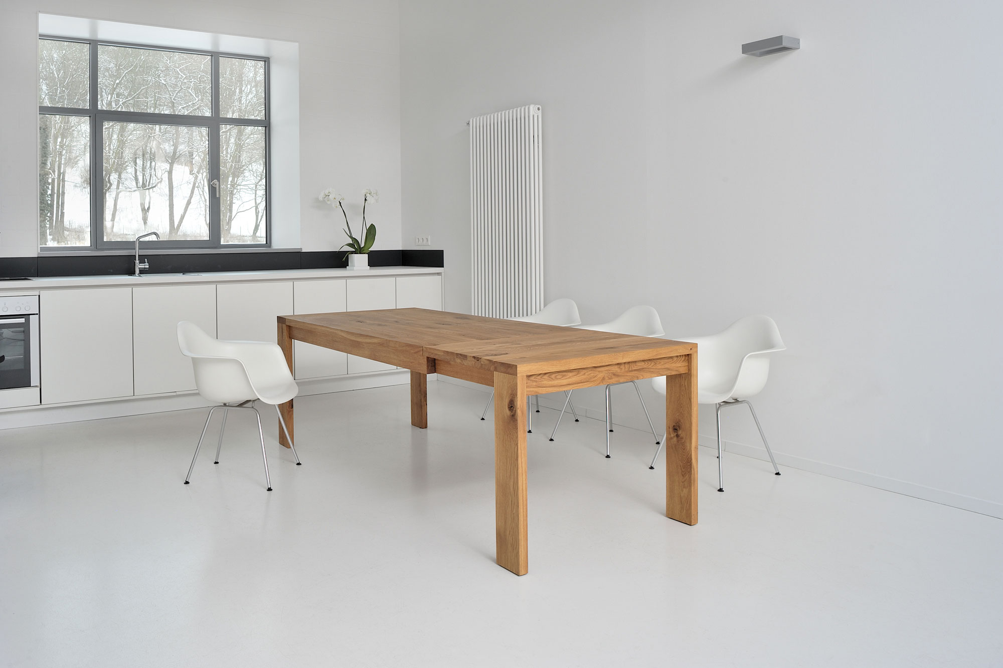 Extendable Table LUNGO 2763 custom made in solid wood by vitamin design