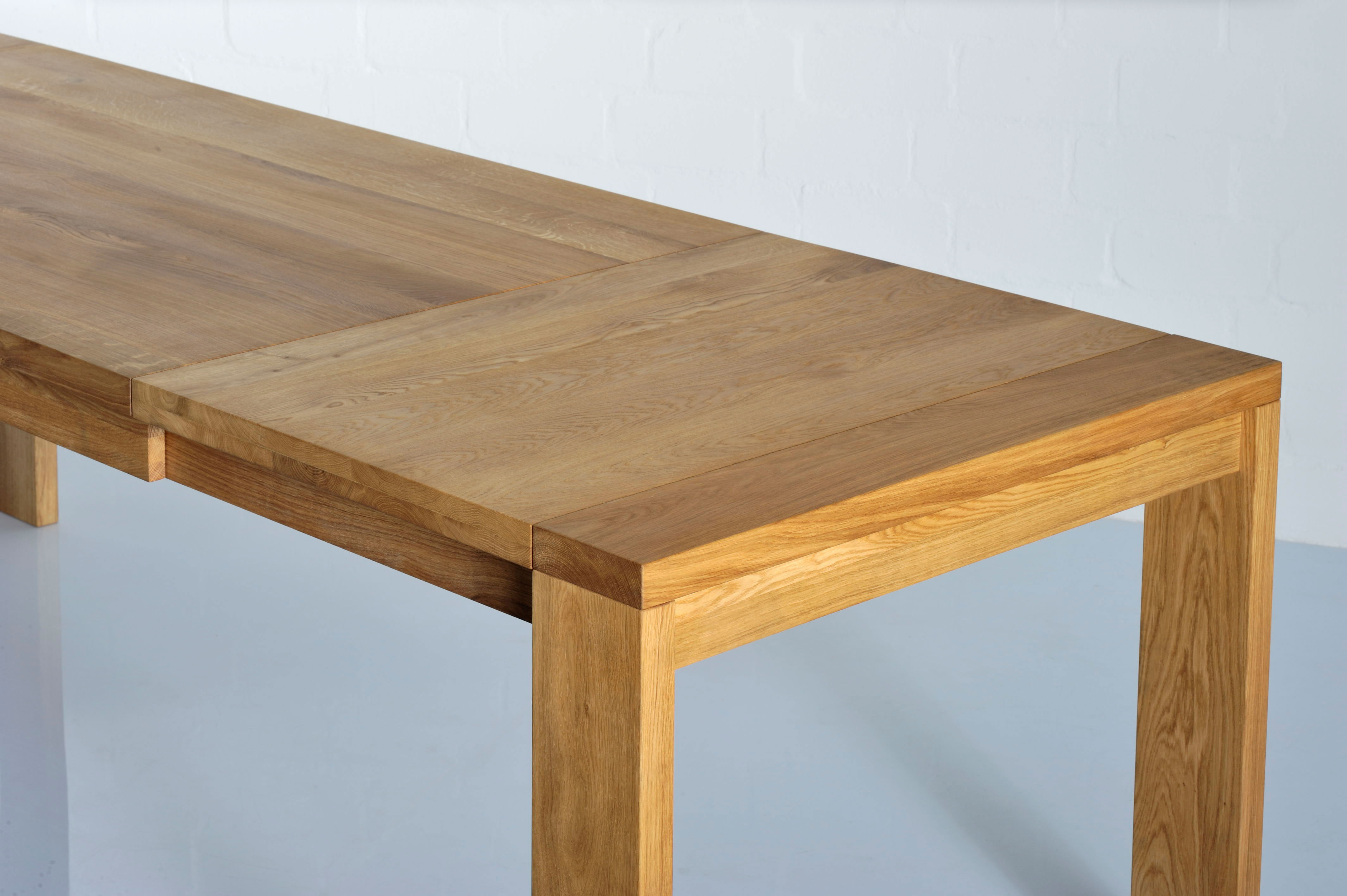 Extendable Table LUNGO 3241 custom made in solid wood by vitamin design