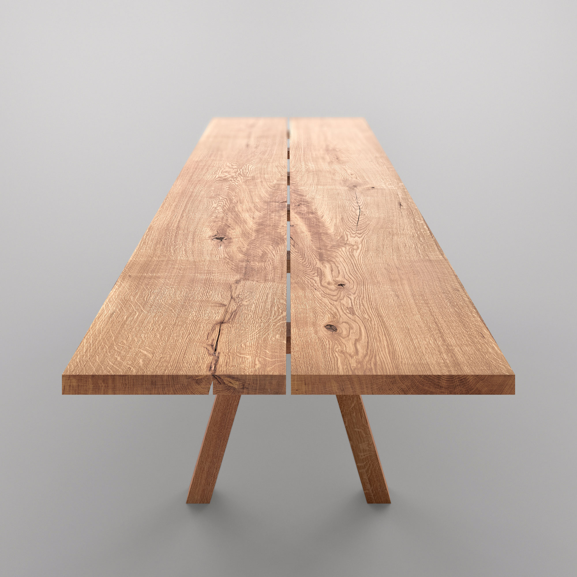 Designer Tree Trunk Table PAPILIO SIMPLE cam4 custom made in solid wood by vitamin design