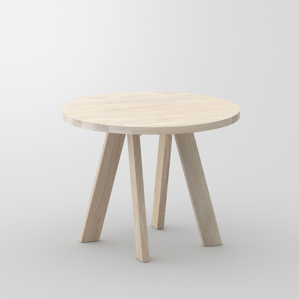 Designer table Round ZIRKEL cam1 custom made in solid wood by vitamin design