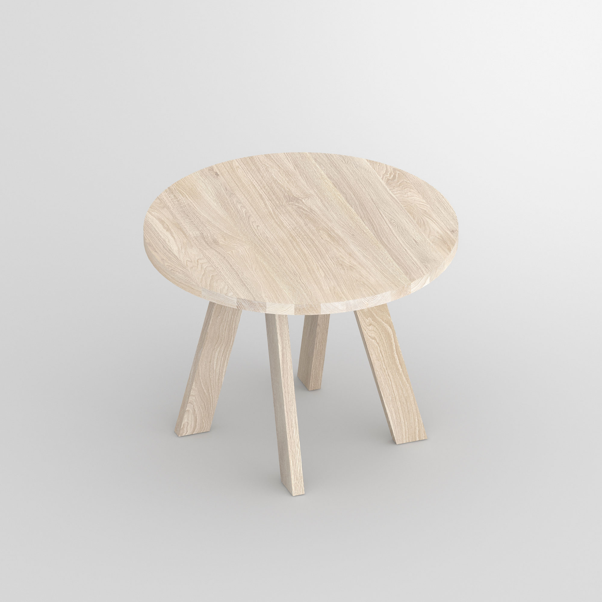 Designer table Round ZIRKEL cam3 custom made in solid wood by vitamin design