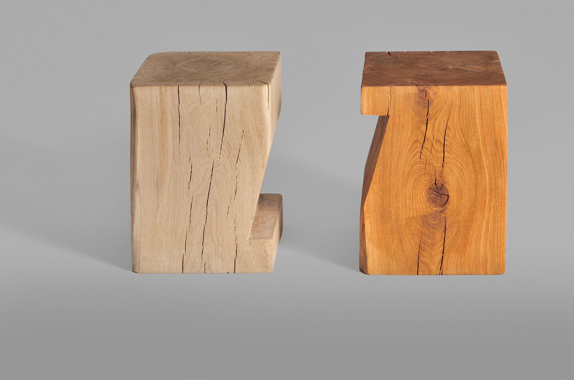 Tree Stump Coffee Table PFEIFE 3665 custom made in solid wood by vitamin design