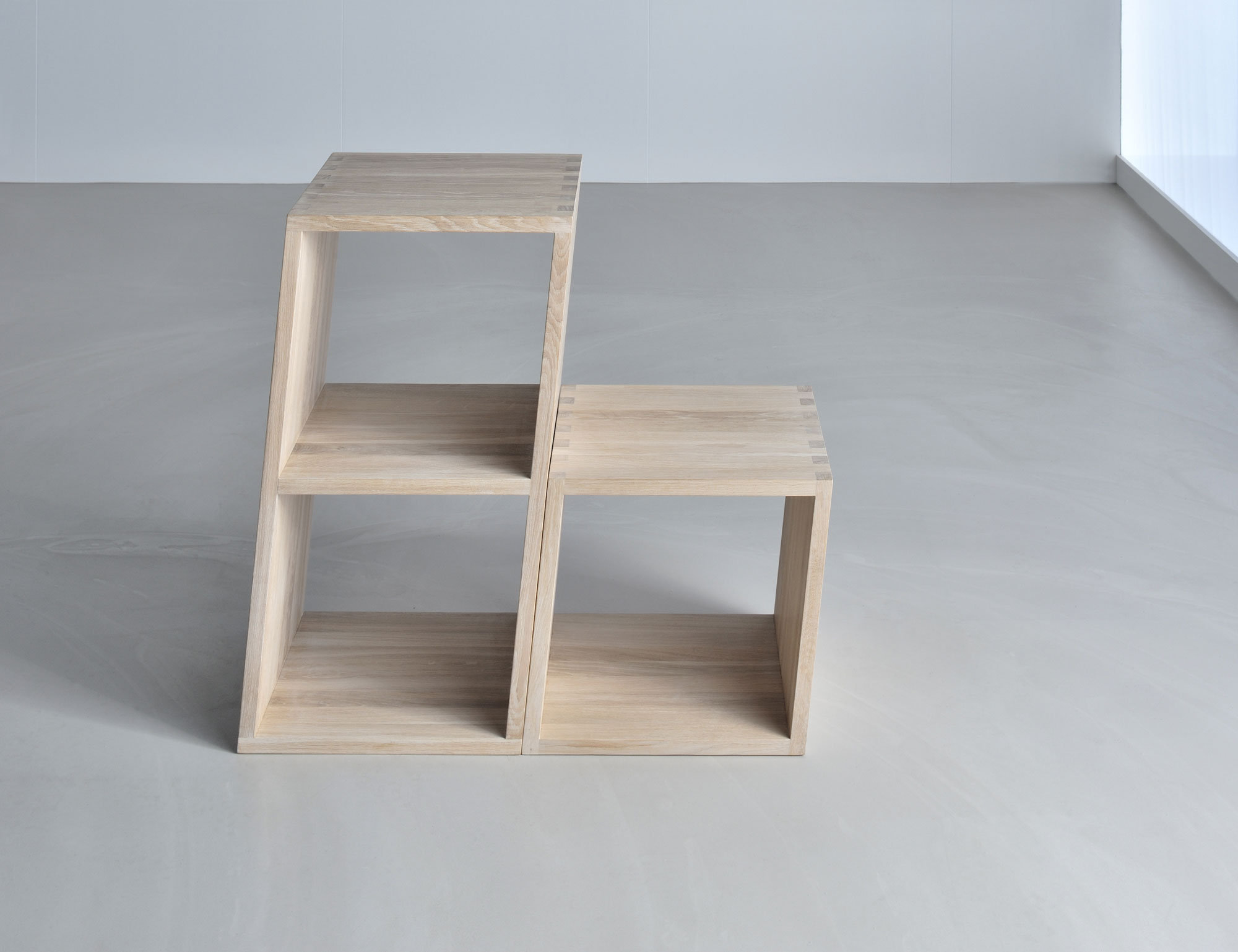 Wooden Designer Shelf PISA 3345 custom made in solid wood by vitamin design