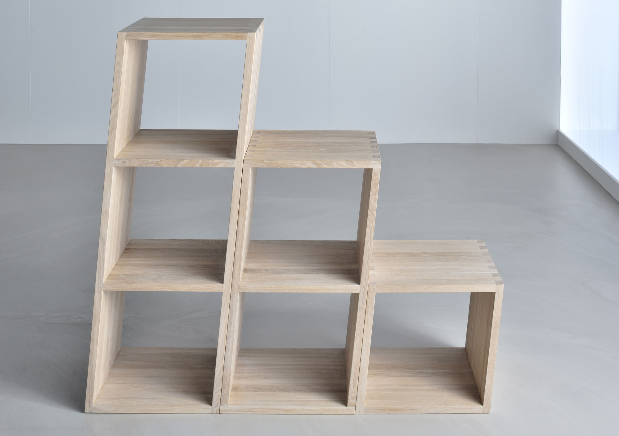 Wooden Designer Shelf PISA 3346 custom made in solid wood by vitamin design