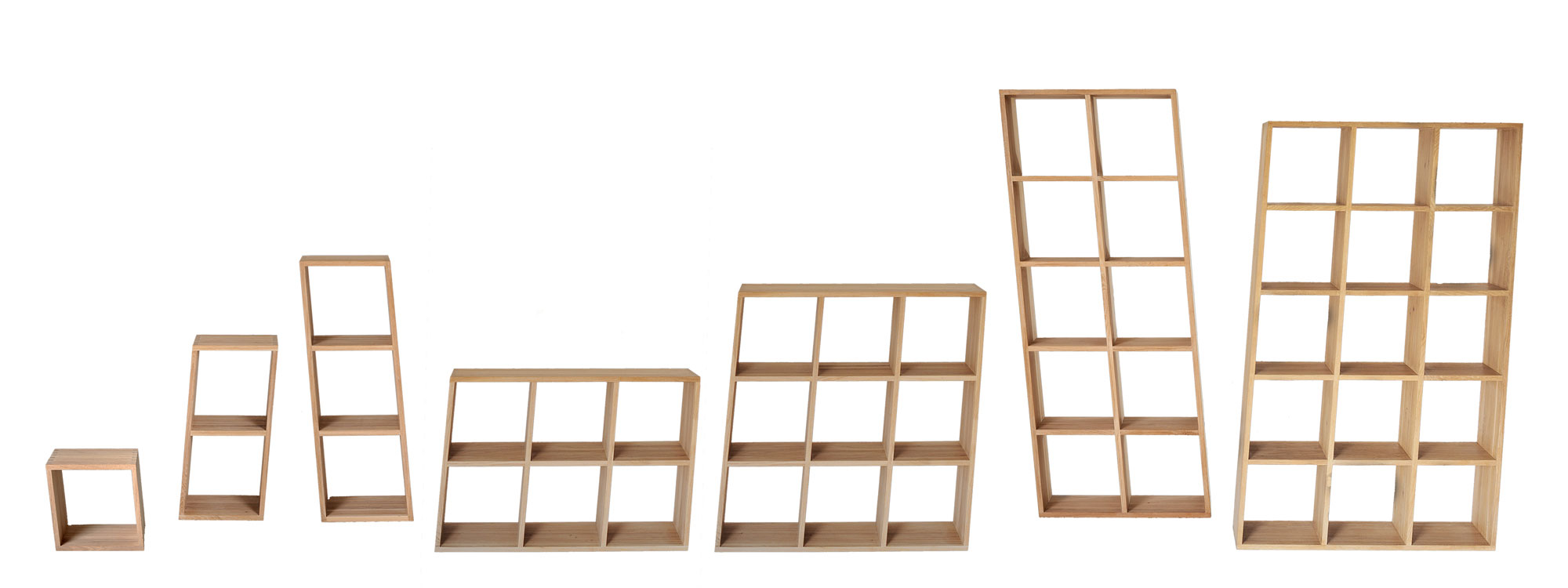 Wooden Designer Shelf PISA cut custom made in solid wood by vitamin design