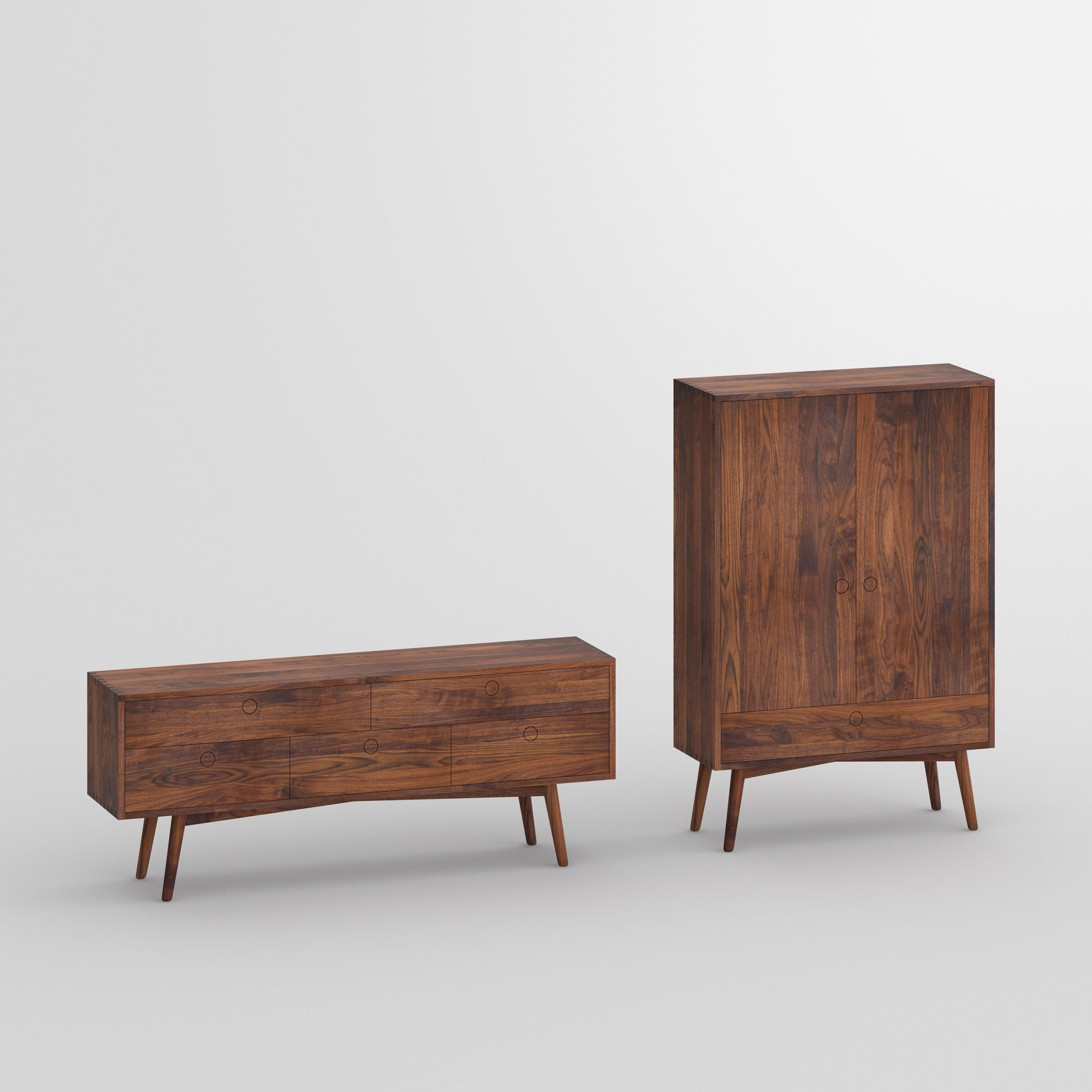 Designer Wood Cupboard Sideboard AMBIO vitamin-design custom made in solid wood by vitamin design