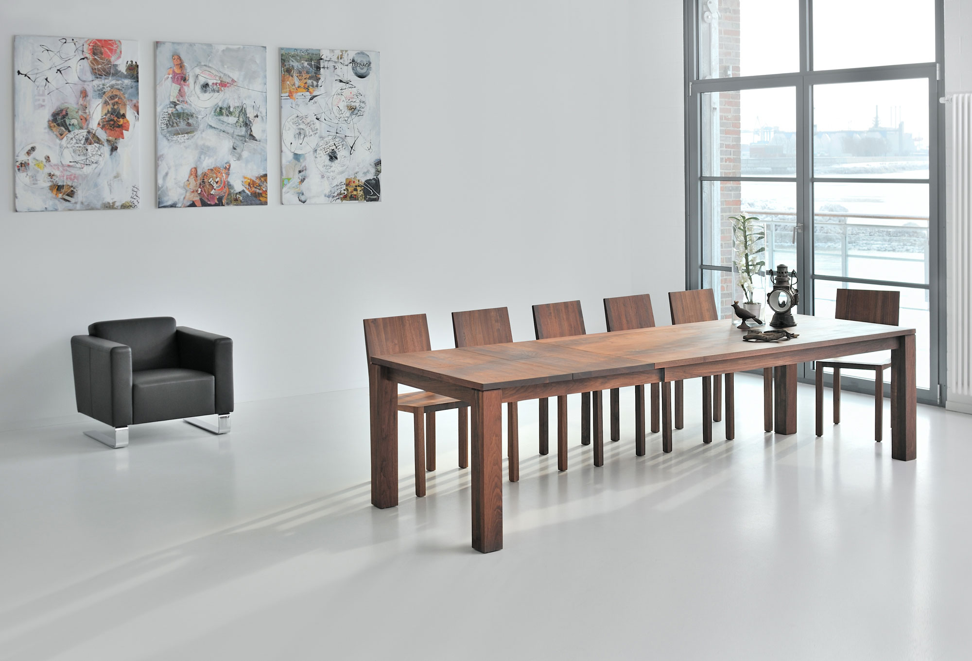 Pull-out Solid Wood Table LIVING BUTTERFLY 2476aPostk2 custom made in solid wood by vitamin design