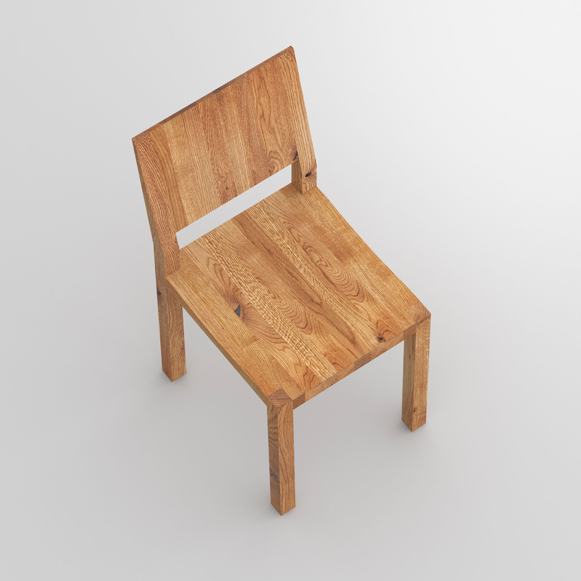Solid Wood Chair TAU cam2 custom made in solid wood by vitamin design