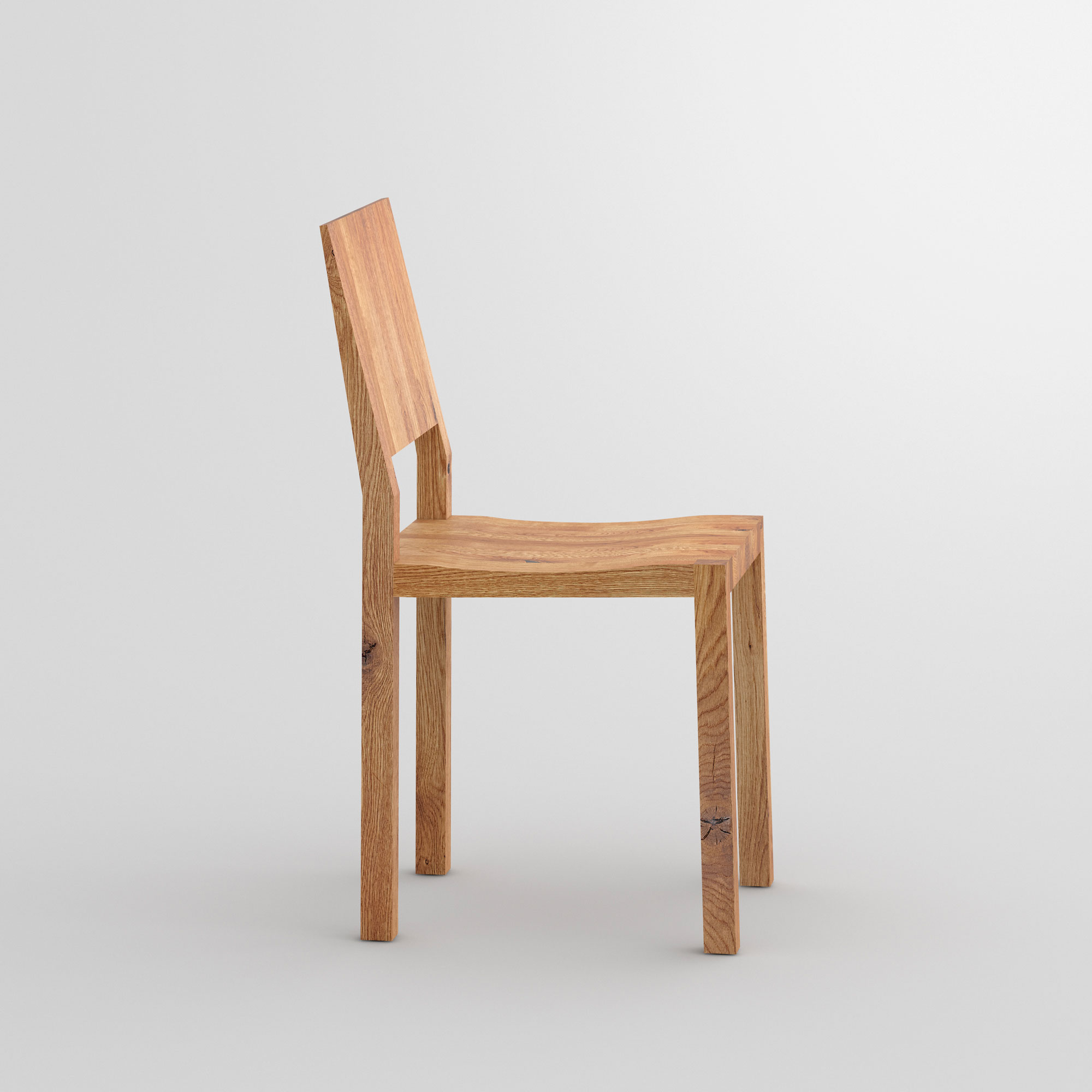 Solid Wood Chair TAU cam4 custom made in solid wood by vitamin design