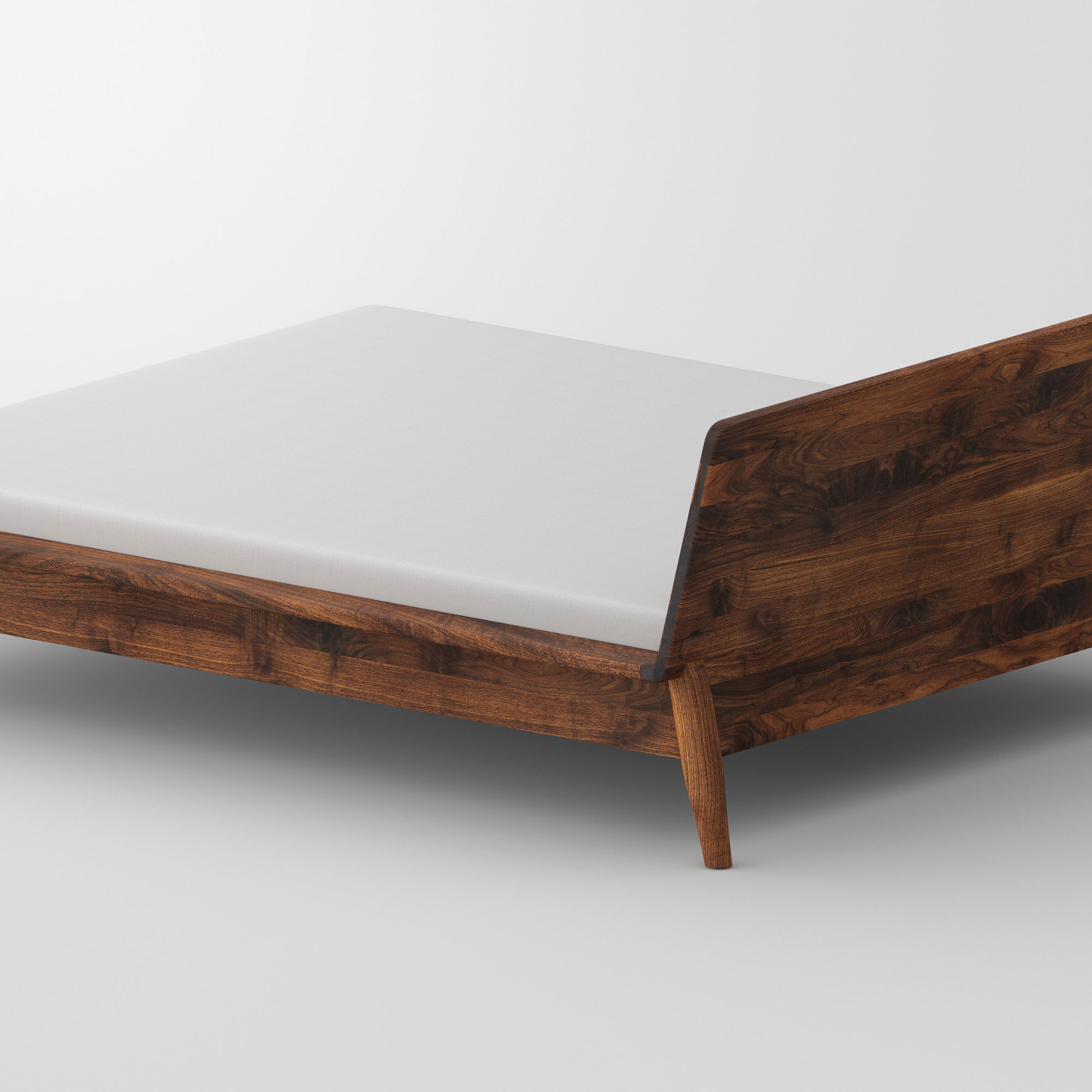 Designer Bed AETAS cam4 custom made in solid wood by vitamin design