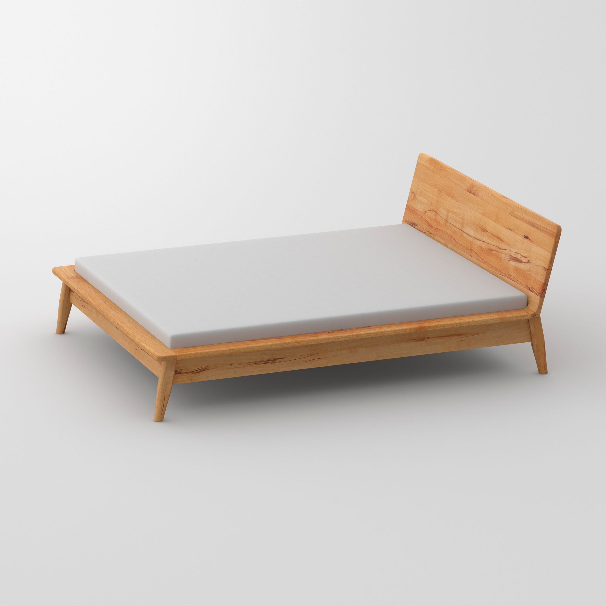 Designer Bed AETAS cam2 custom made in solid wood by vitamin design
