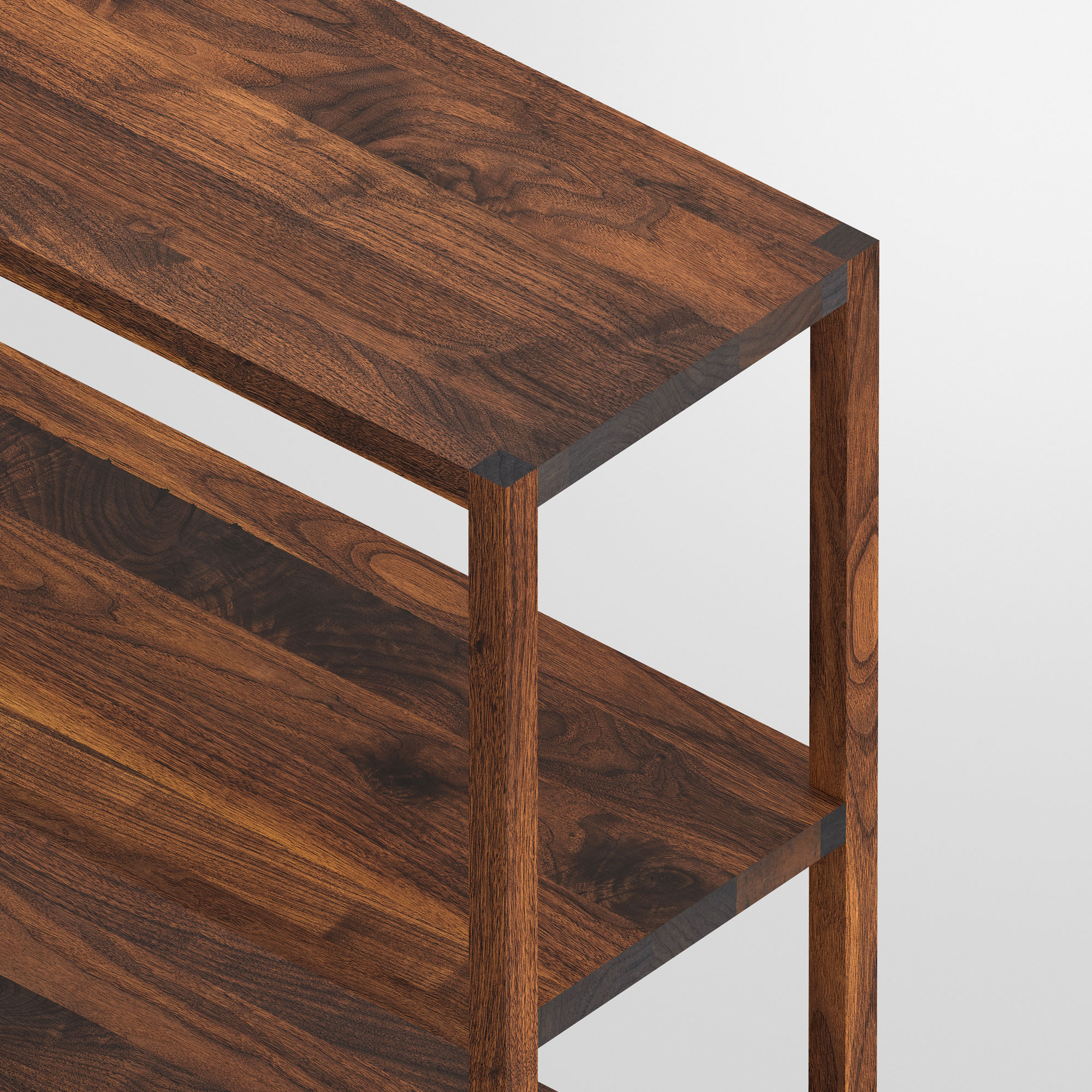 Linoleum Wood Shelf SENA cam4 custom made in solid wood by vitamin design