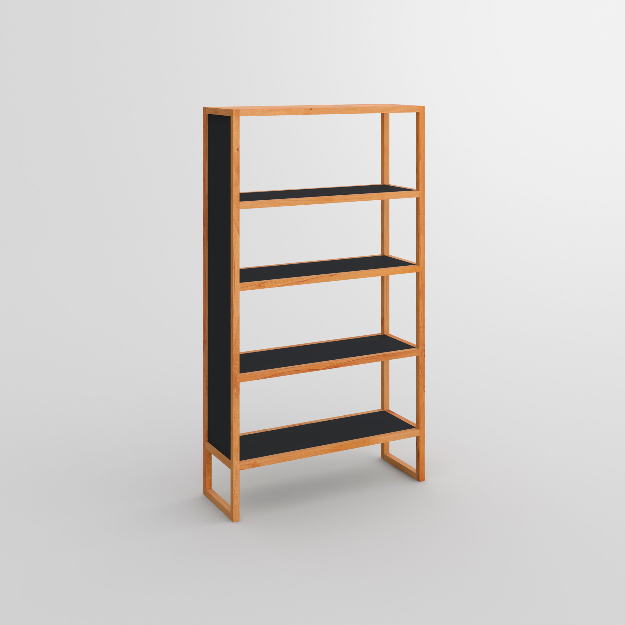Linoleum Wood Shelf SENA cam1 custom made in solid wood by vitamin design