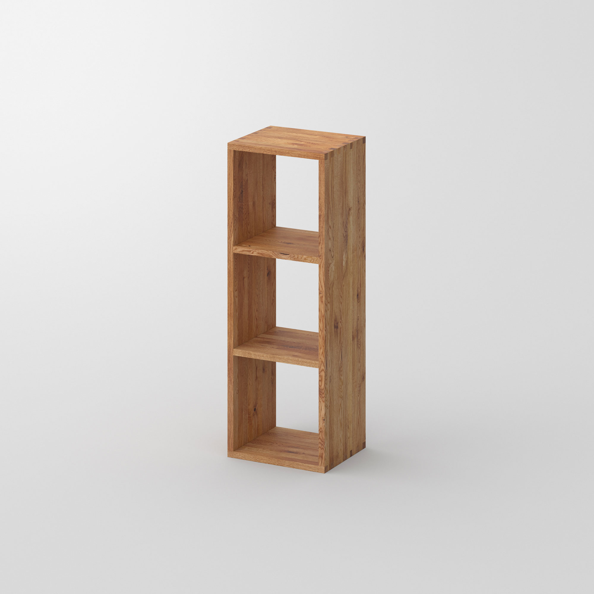 Designer Wood Shelf PISA G cam1 custom made in solid wood by vitamin design