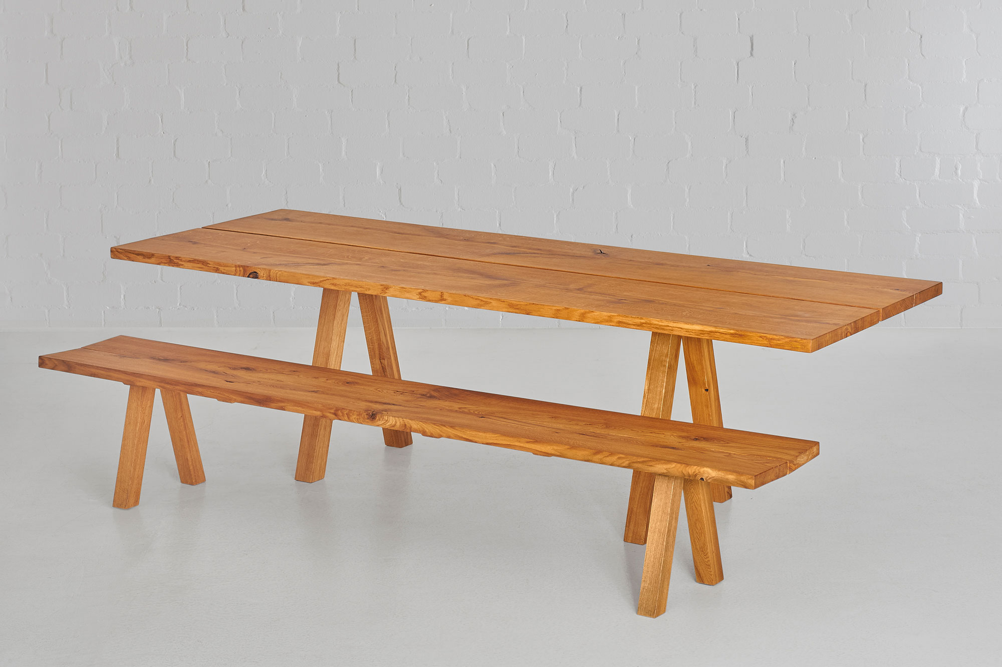 Dining Room Bench PAPILIO 0469 custom made in solid wood by vitamin design