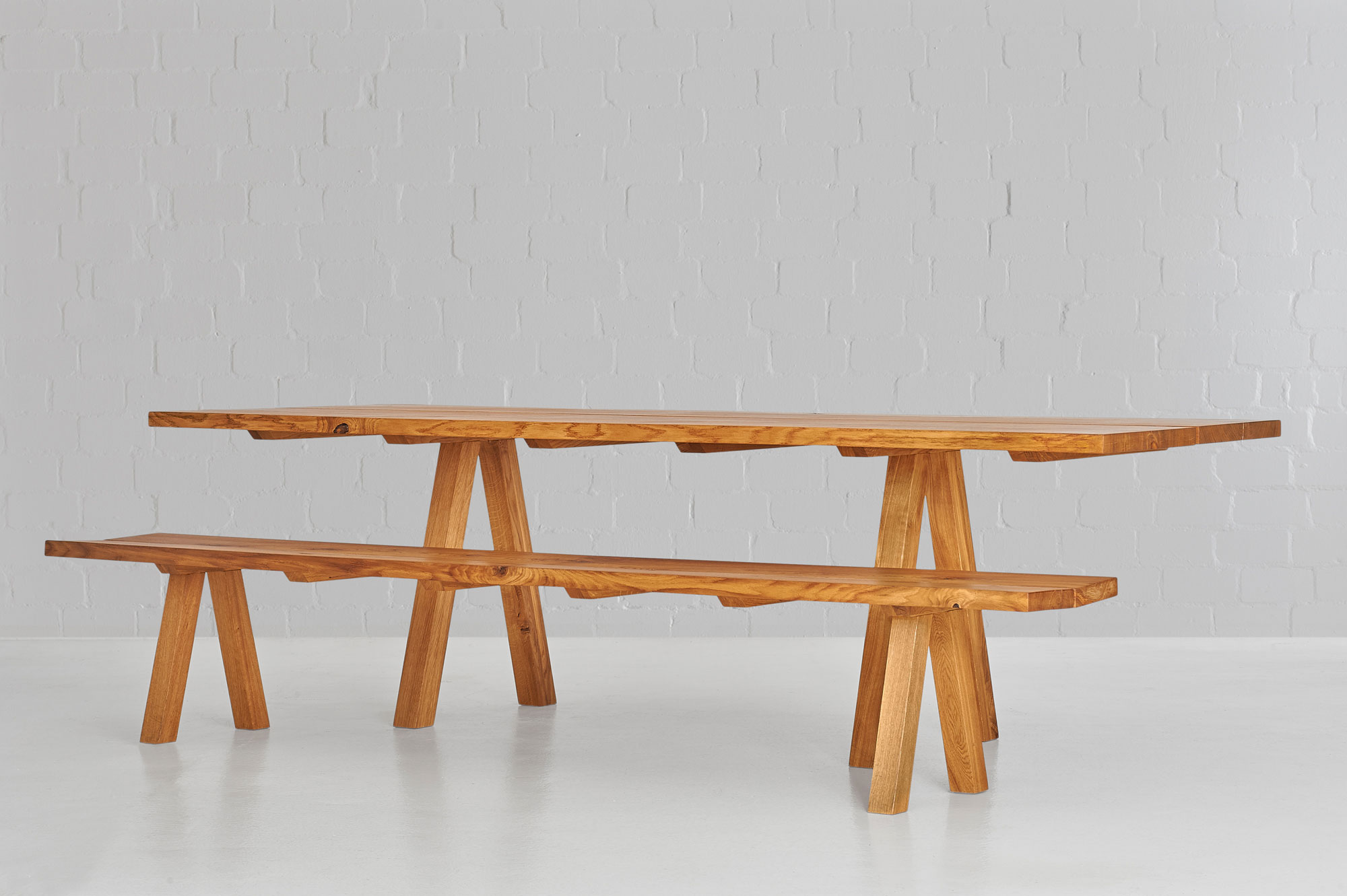 Dining Room Bench PAPILIO 0460 custom made in solid wood by vitamin design