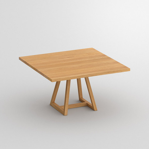 Square Table MARGO SQUARE cam1 custom made in Solid oak, oiled by vitamin design